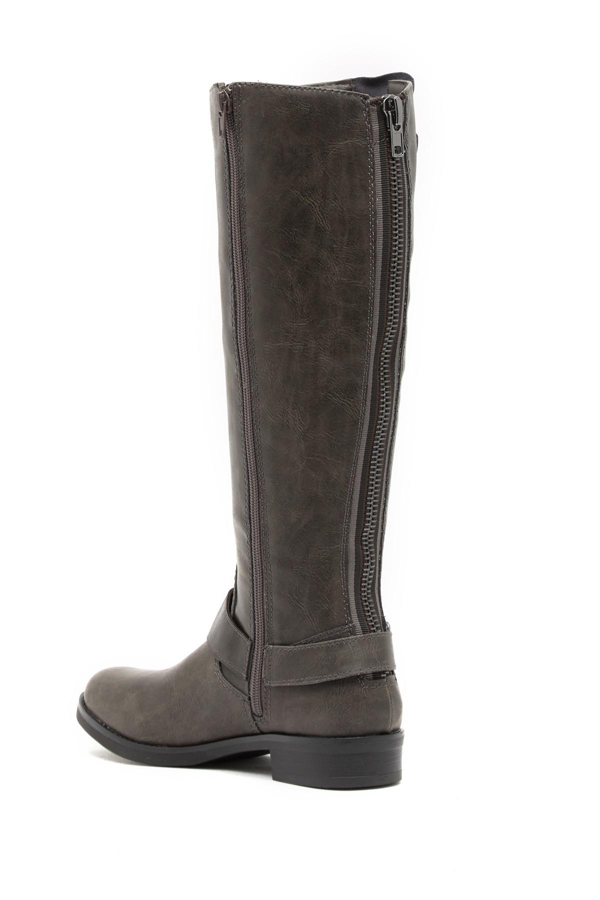 10c59a91018 Lyst - Madden Girl Fayettee Buckle Riding Boot