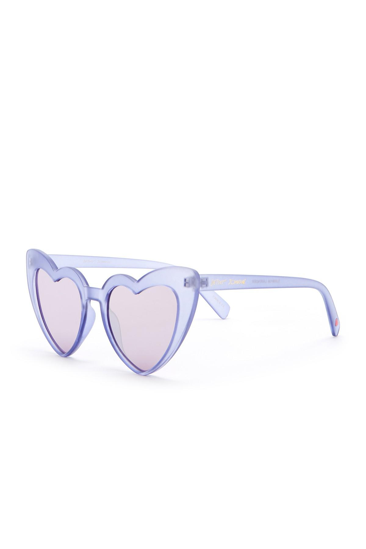 9375063478365 Betsey Johnson 52mm Heart Cat Eye Sunglasses - Lyst