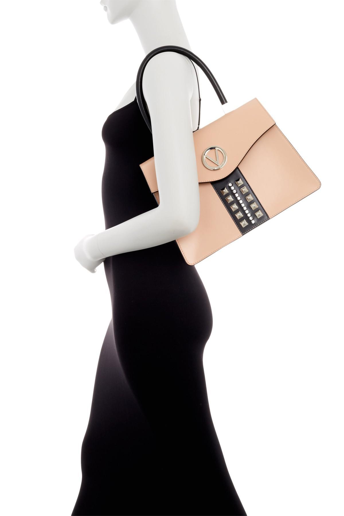 019a0e5adae Valentino By Mario Valentino Melanie Sve Black Leather Satchel Bag ...