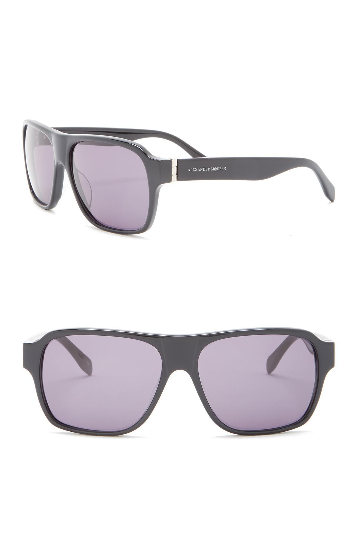 2e92116f97d Lyst - Alexander Mcqueen 57mm Rectangle Sunglasses for Men