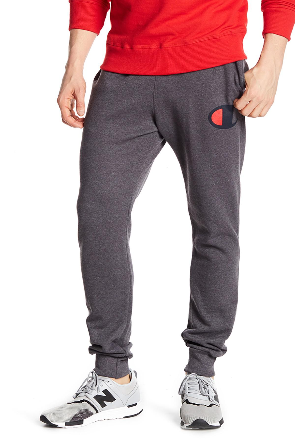 Lyst Champion Powerblend Logo Joggers In Gray For Men