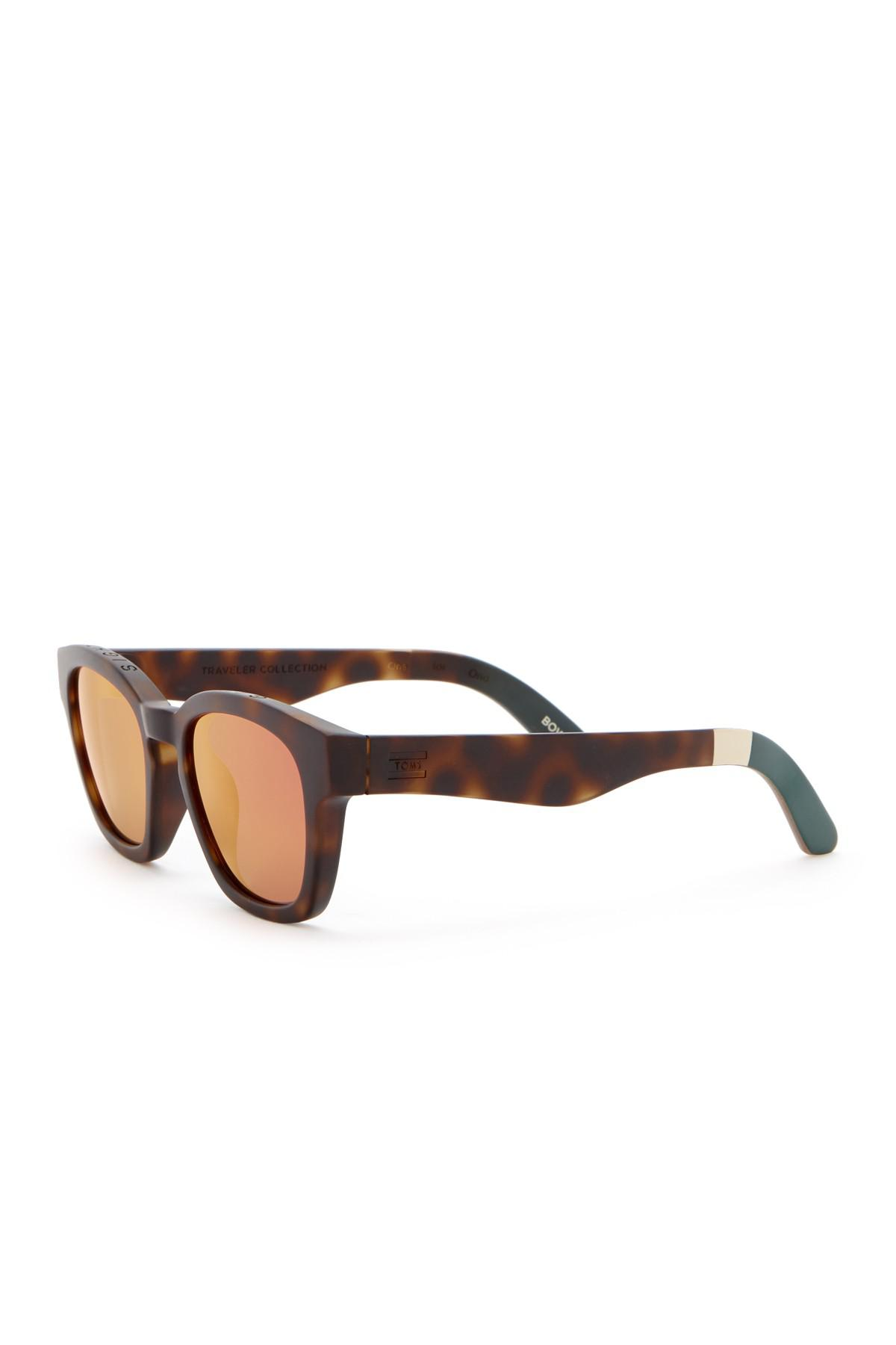 6a51c12658f6 Lyst - TOMS Bowery 51mm Retro Sunglasses for Men
