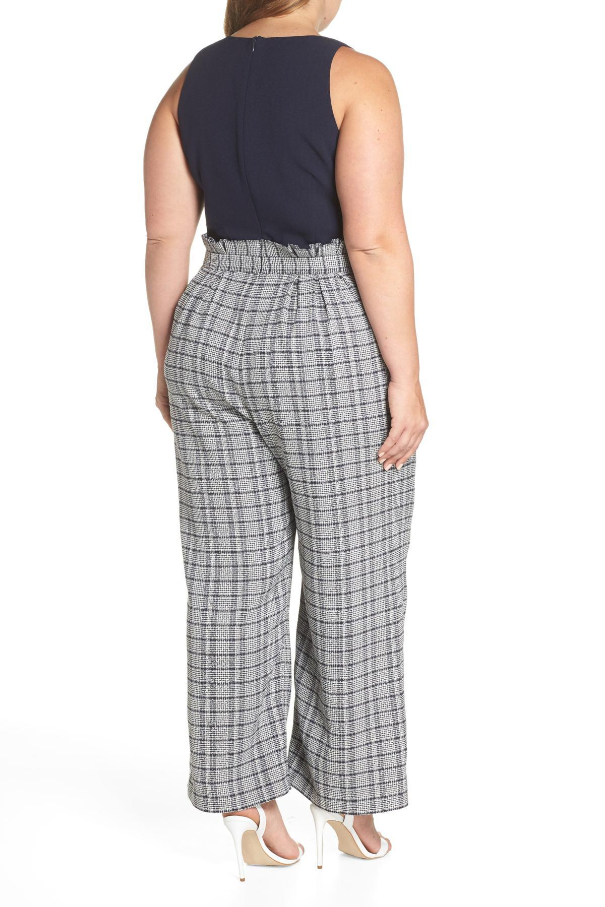 e5cbeecdf7ea Lyst - Chelsea28 Wide Leg Tweed Jumpsuit (regular