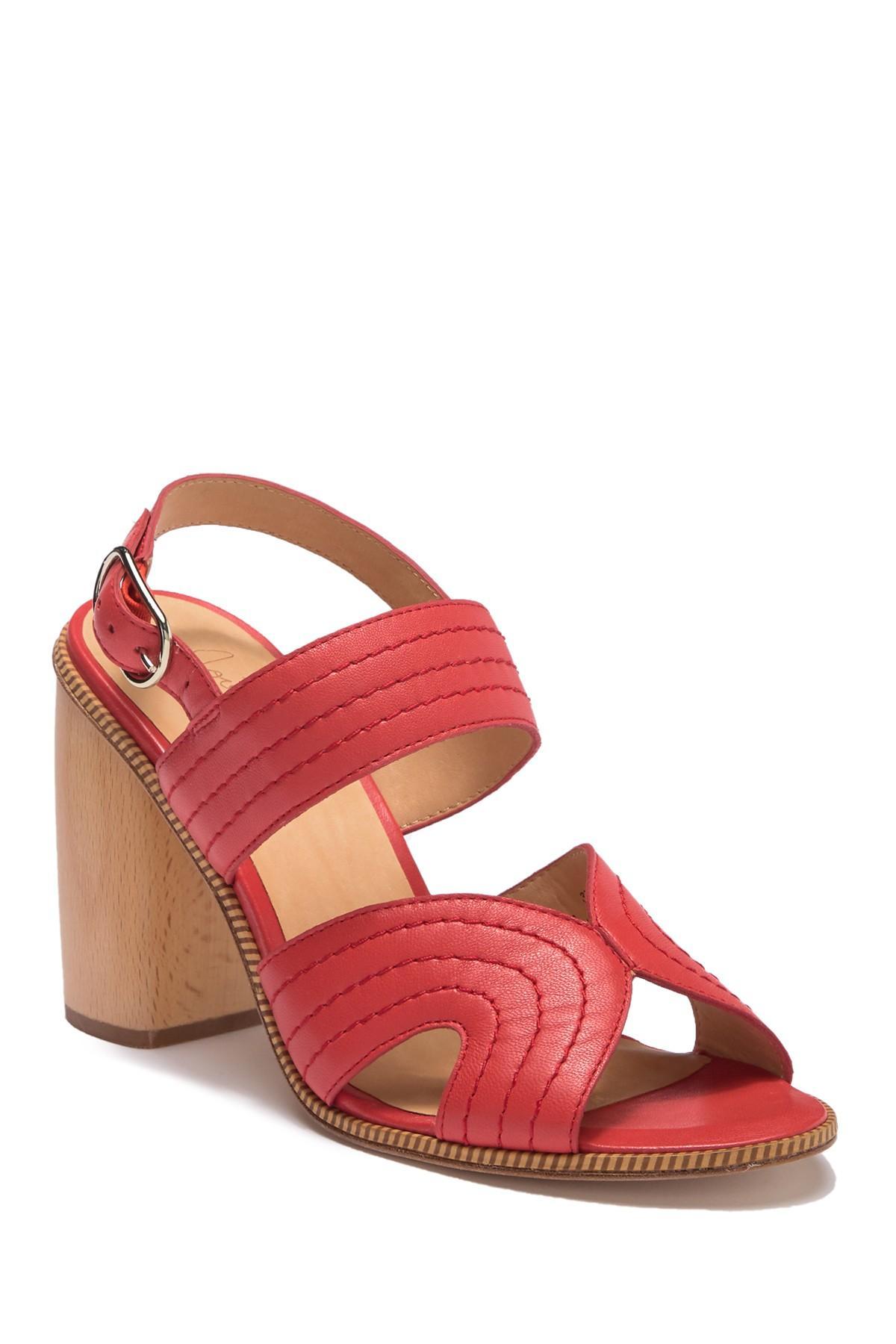 0ed84549417 Joie. Women s Red Aforleen Leather Slingback Strap Heeled Sandal.  328  170  From Nordstrom Rack