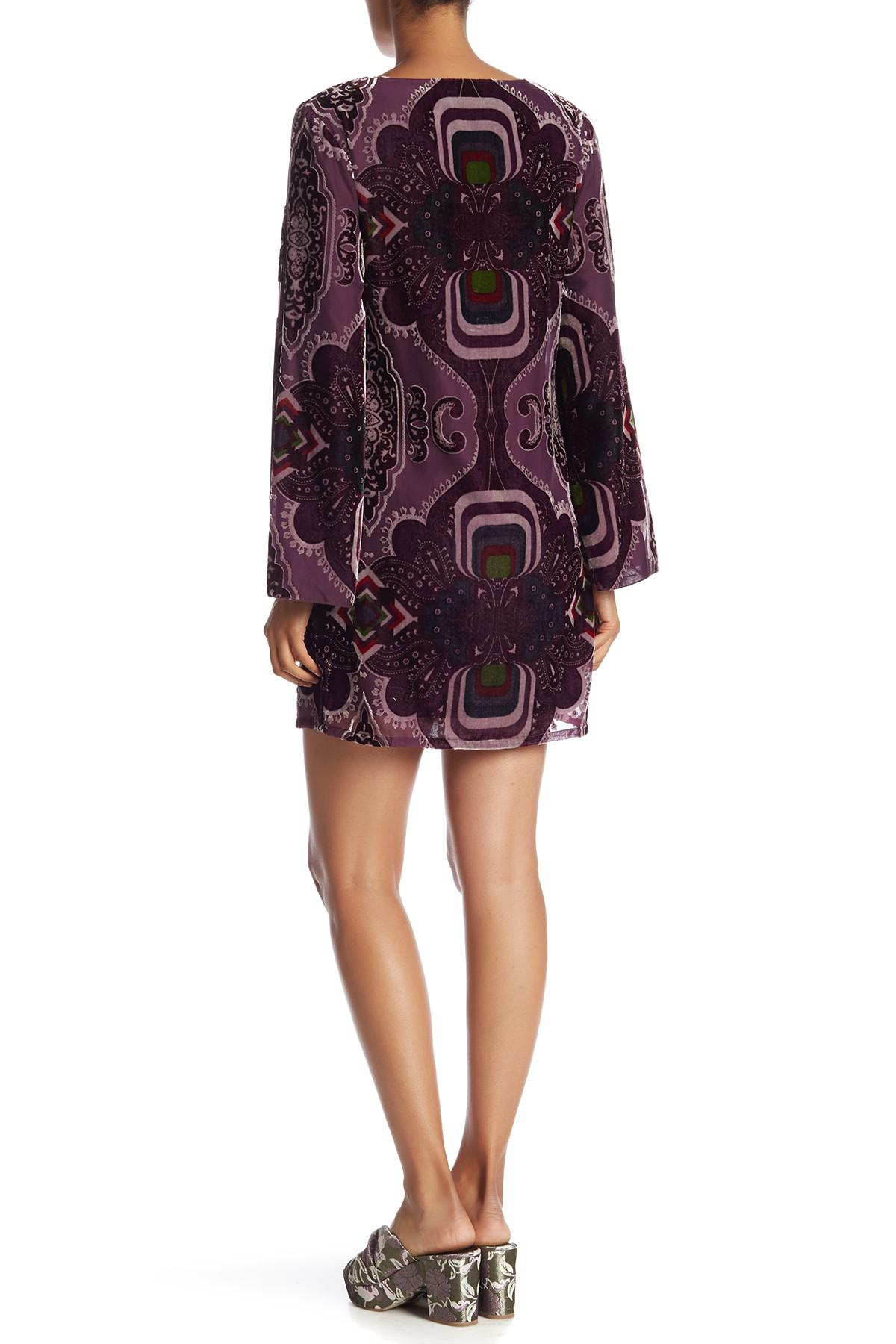 7c56ac874e092 Lyst - Desigual Celia Velvet Dress in Purple