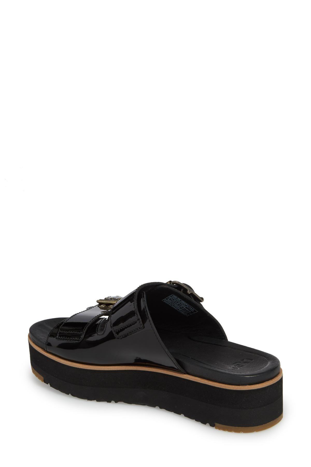 44c61777548 Lyst - UGG (r) Cammie Platform Slide Sandal (women) in Black