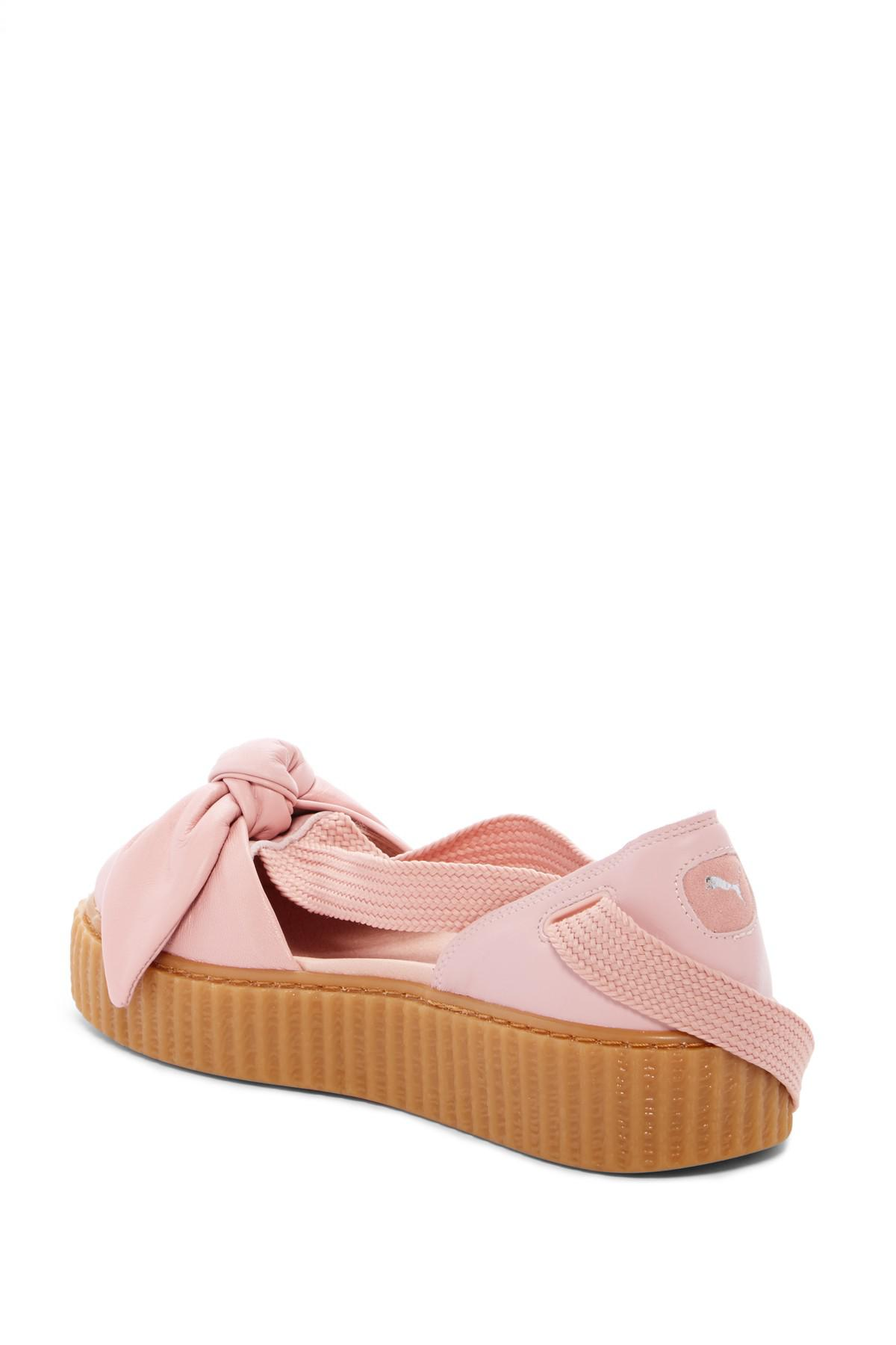 PUMA - Pink Fenty By Rihanna Bow Leather Creeper Sandal (women) - Lyst.  View fullscreen 0a3f062a4