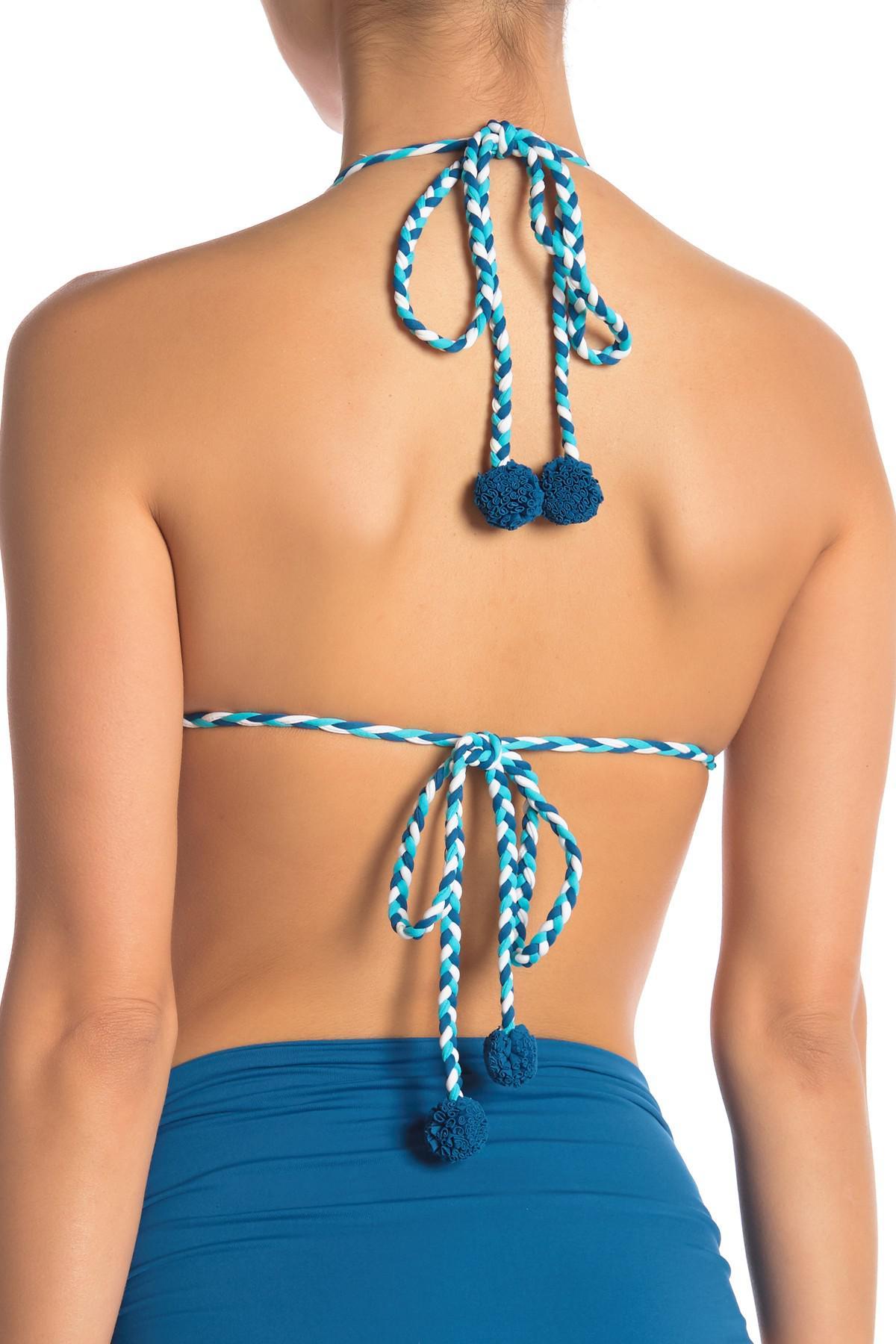 64a4d9256b Vince Camuto - Blue Braided Triangle Bikini Top - Lyst. View fullscreen