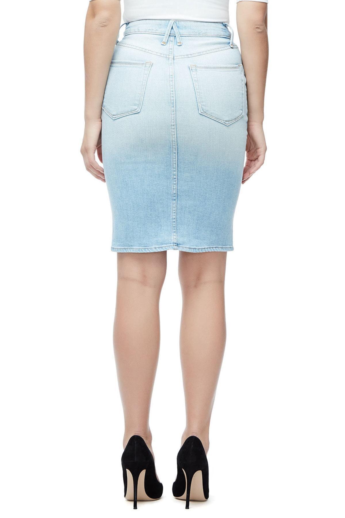 071d2a1967422 Lyst - Good American The Pencil Skirt (blue 146) (regular   Plus ...