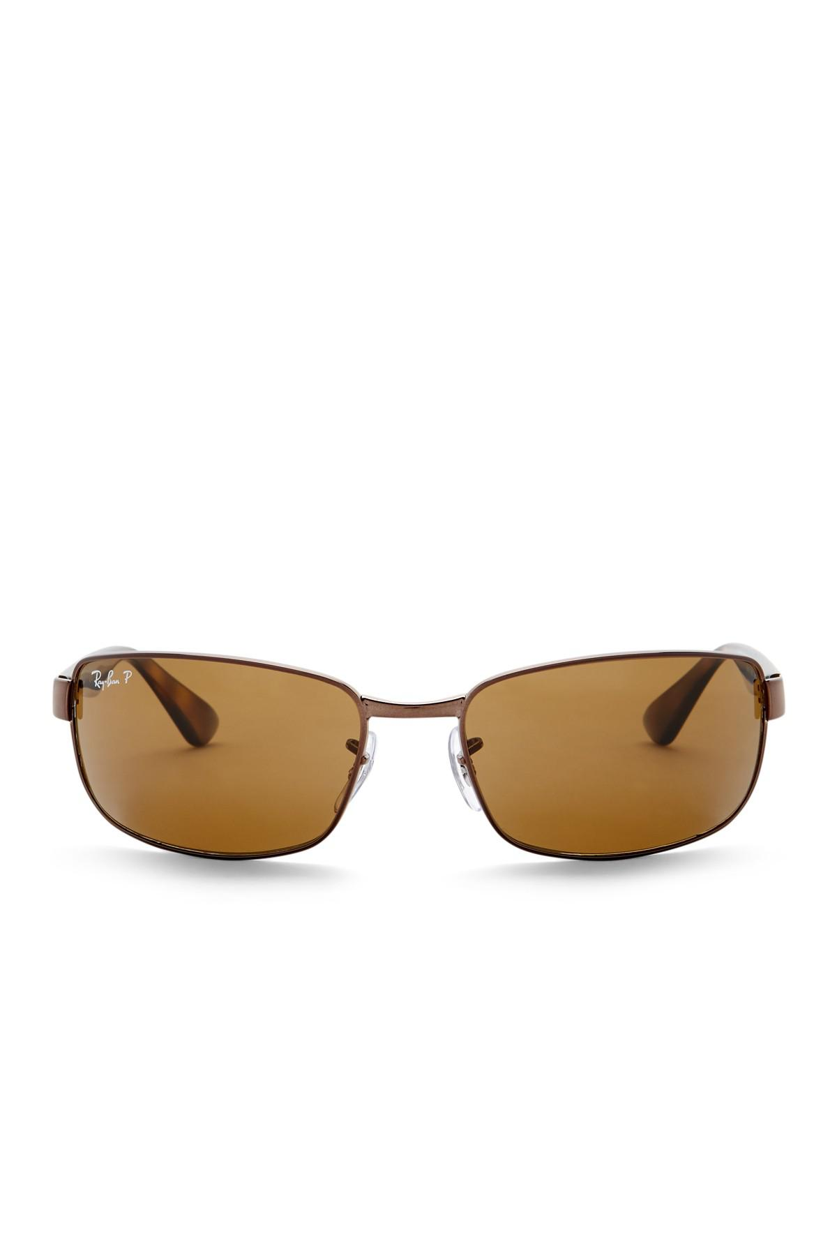 ff482709bf Lyst - Ray-Ban Polarized 60mm Metal Sunglasses in Brown for Men