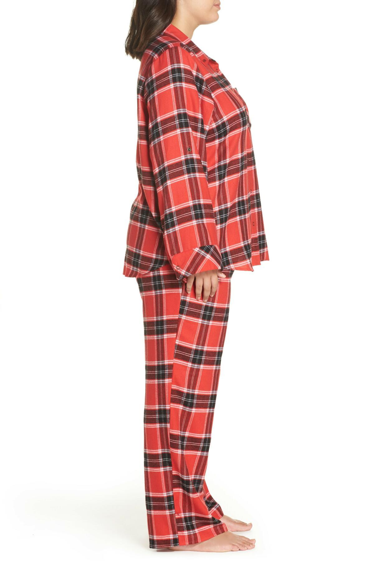 56a770442eff3 Lyst - Make + Model Flannel Pajamas (plus Size) in Red - Save 69%