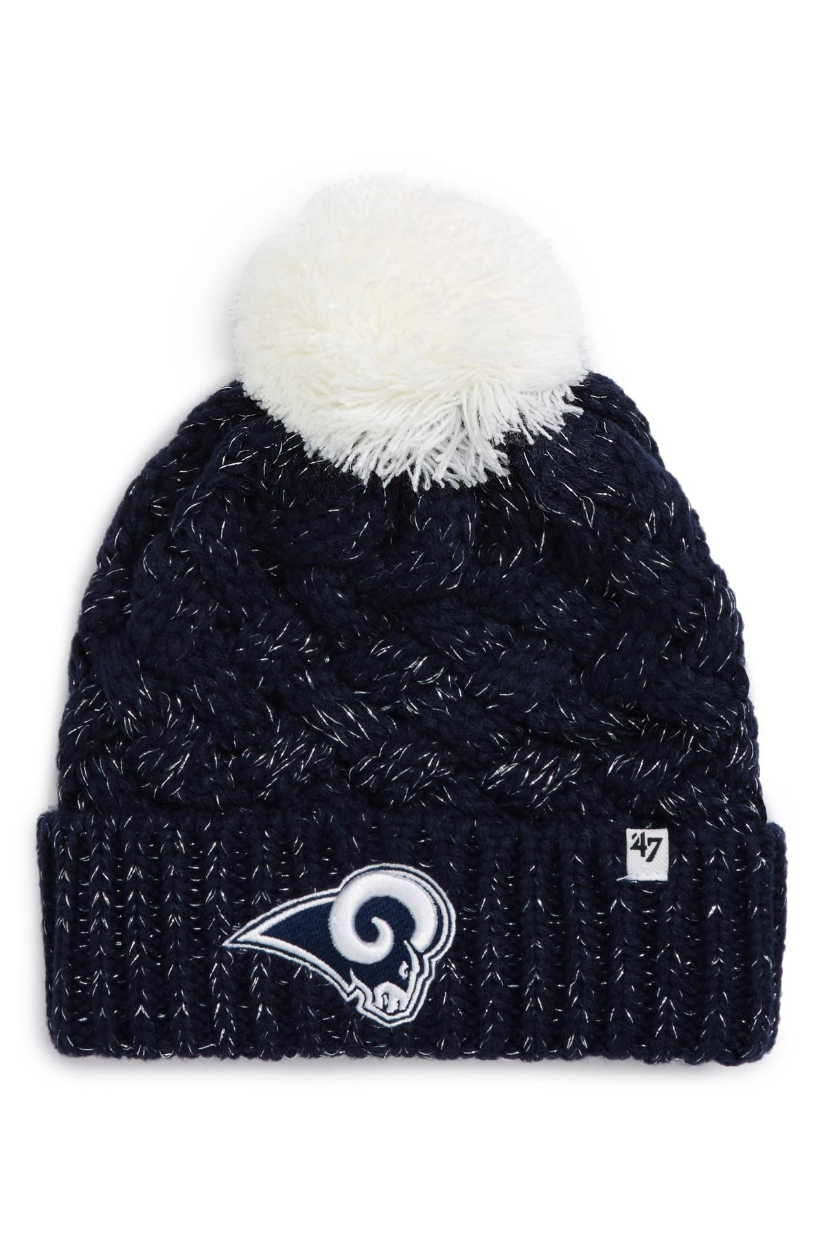 53a1f2f704008 Lyst - 47 Brand Fiona Los Angeles Rams Pom Beanie in Blue