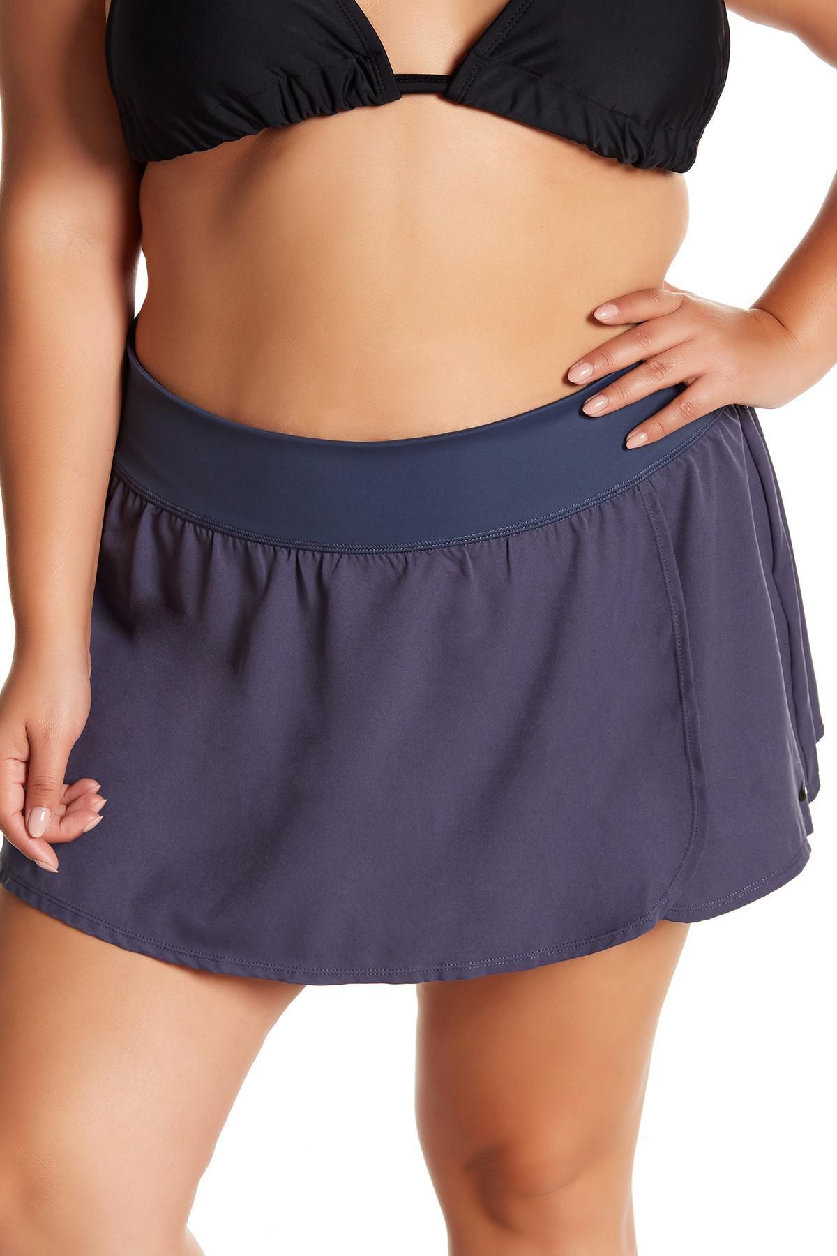 0db1c459cfa Lyst - Nike Solid Swim Boardskirt (plus Size) in Blue