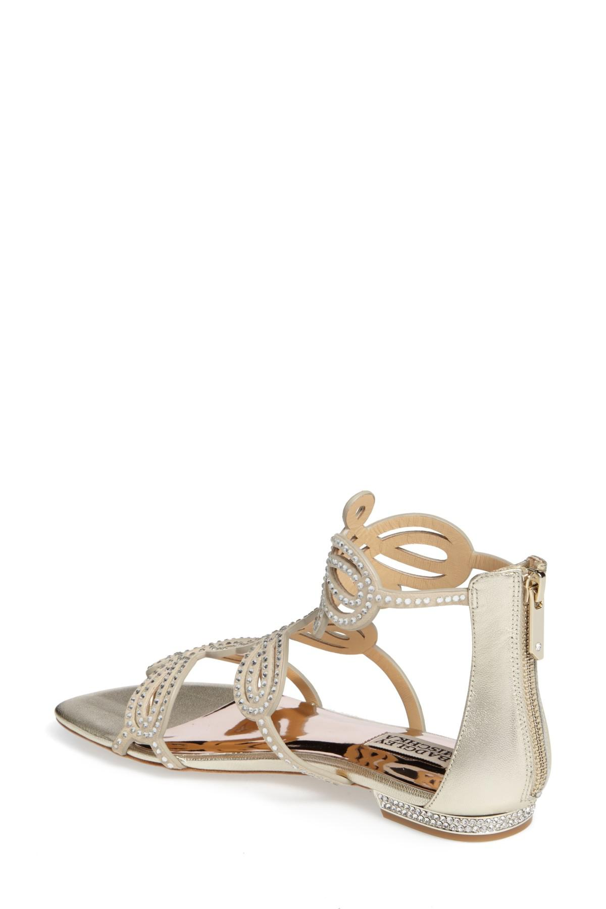 d13c7c94c2a0aa Lyst - Badgley Mischka Tempe Embellished Suede Sandal