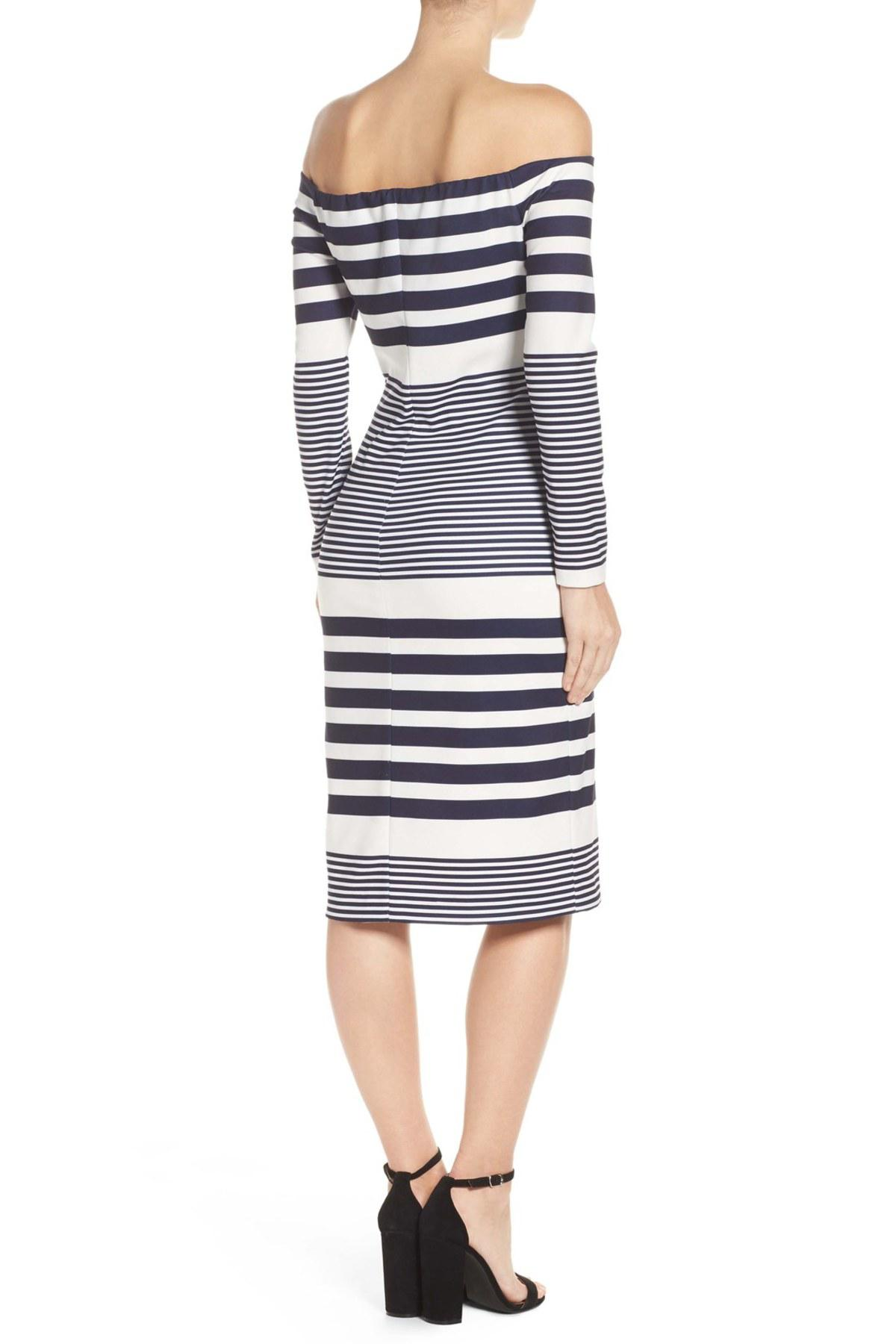 cc692e6fe1f Lyst - Eliza J Off The Shoulder Midi Dress in White - Save ...