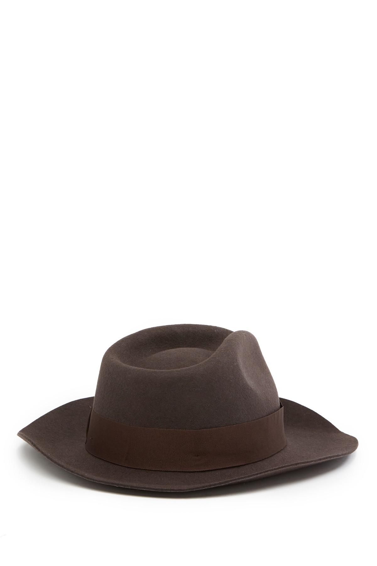 8f460c665bfb2 Lyst - Goorin Bros Curly Wool Fedora in Brown for Men