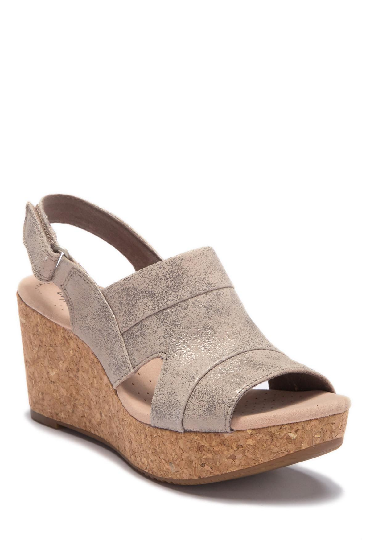 e73ec39b7e0 Clarks. Women s Brown Annadel Ivory Wedge Sandal - Wide Widths Available