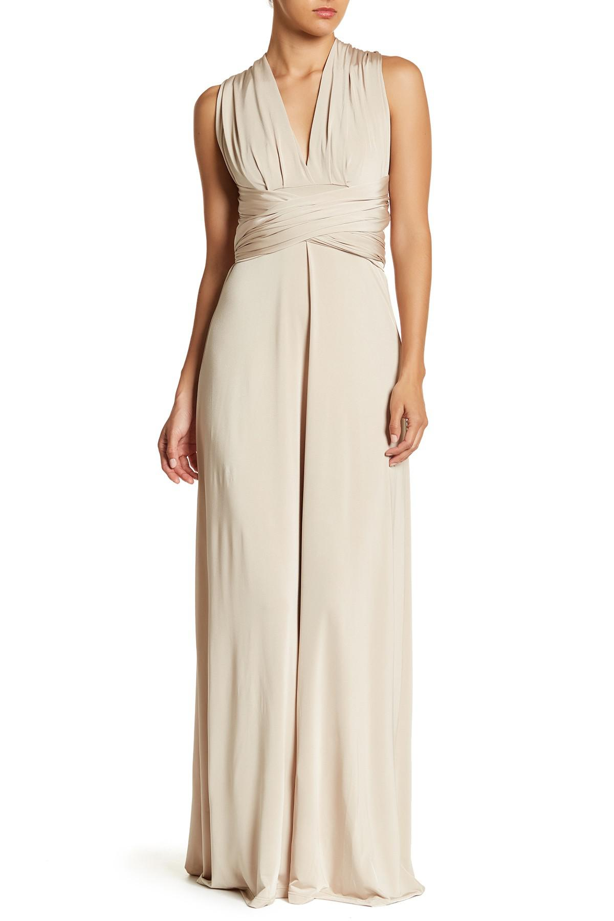 Soprano hi-lo surplice maxi dress