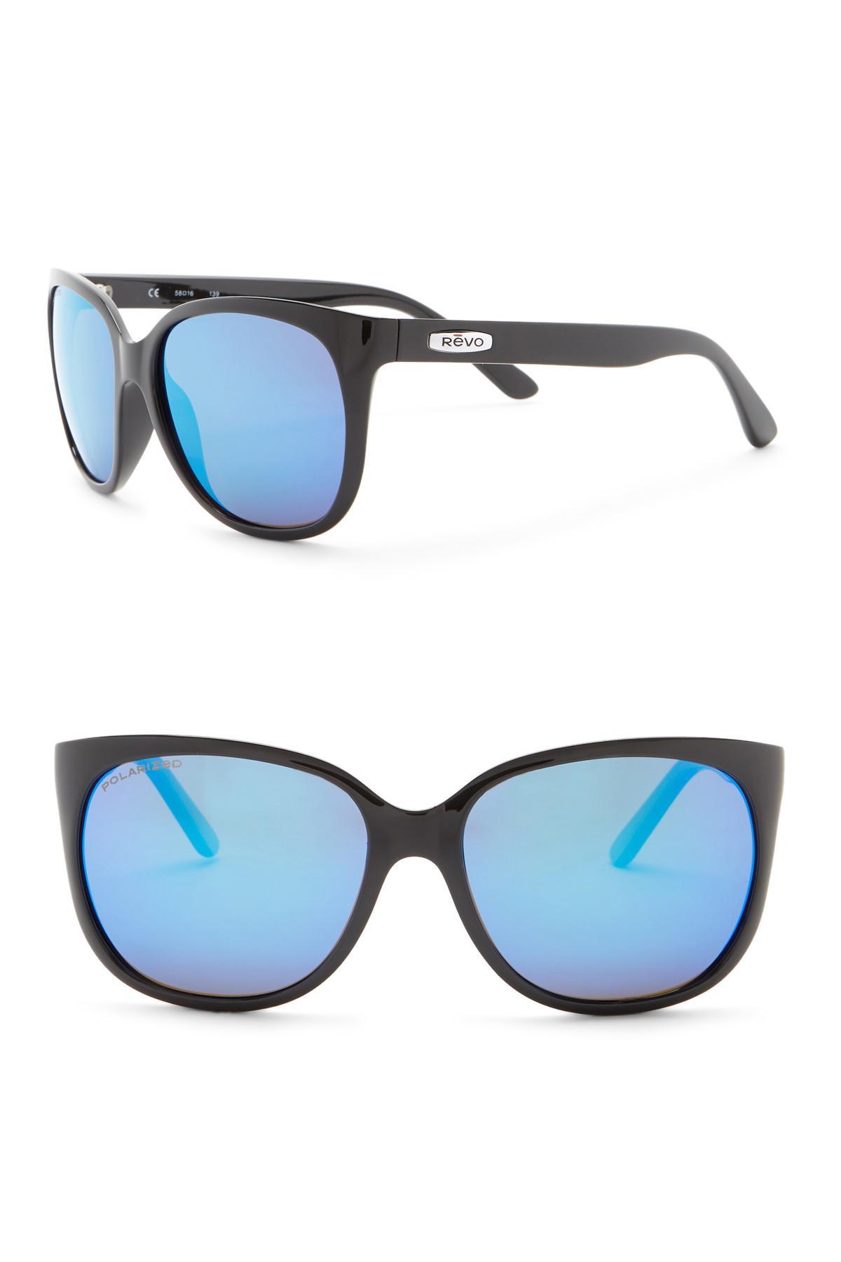 55f8d79234 Lyst - Revo Grand Classic Polarized 58mm Square Sunglasses in Black