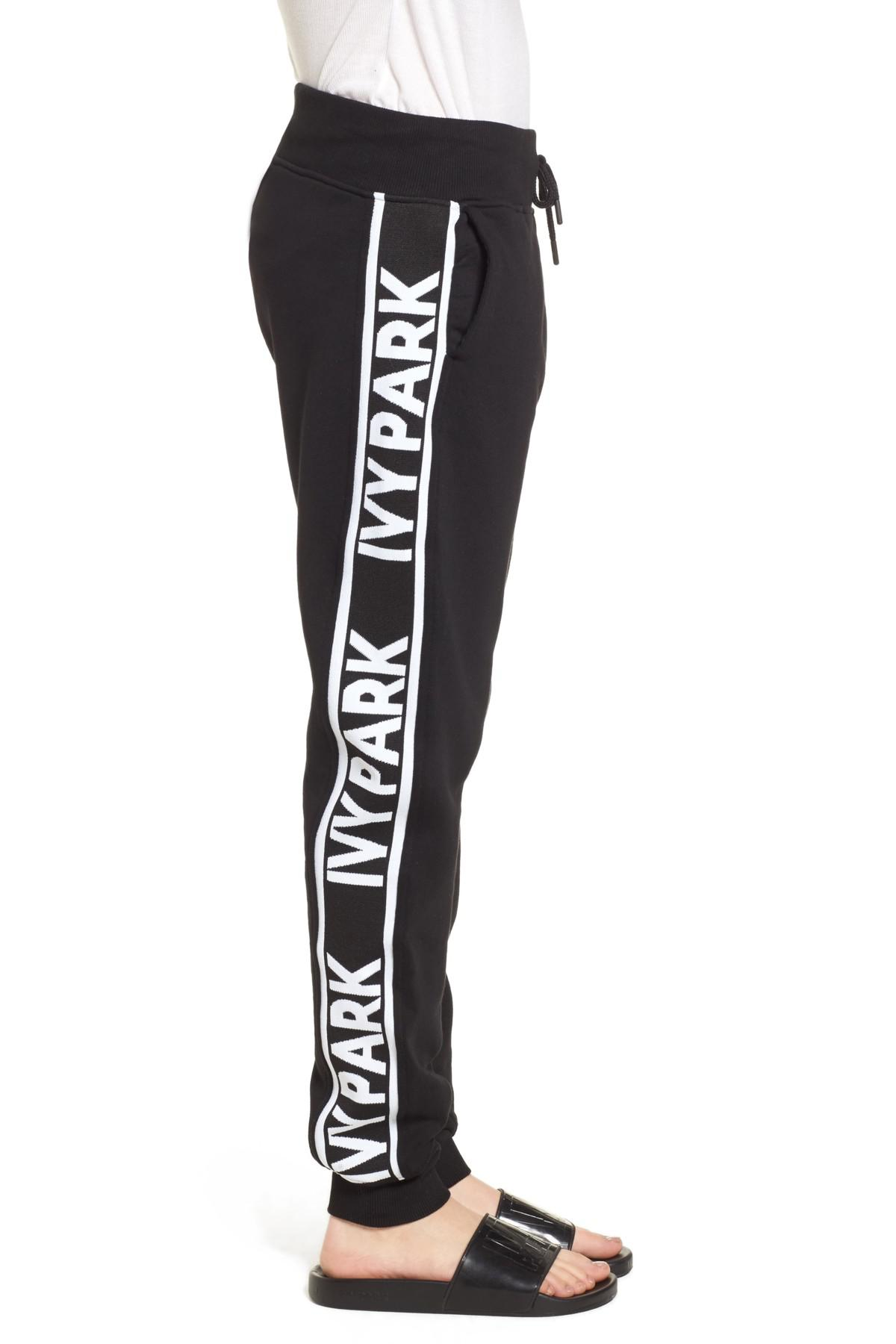 4ddd6cc6bebb Lyst - Ivy Park Logo Tape Jogger Pants in Black