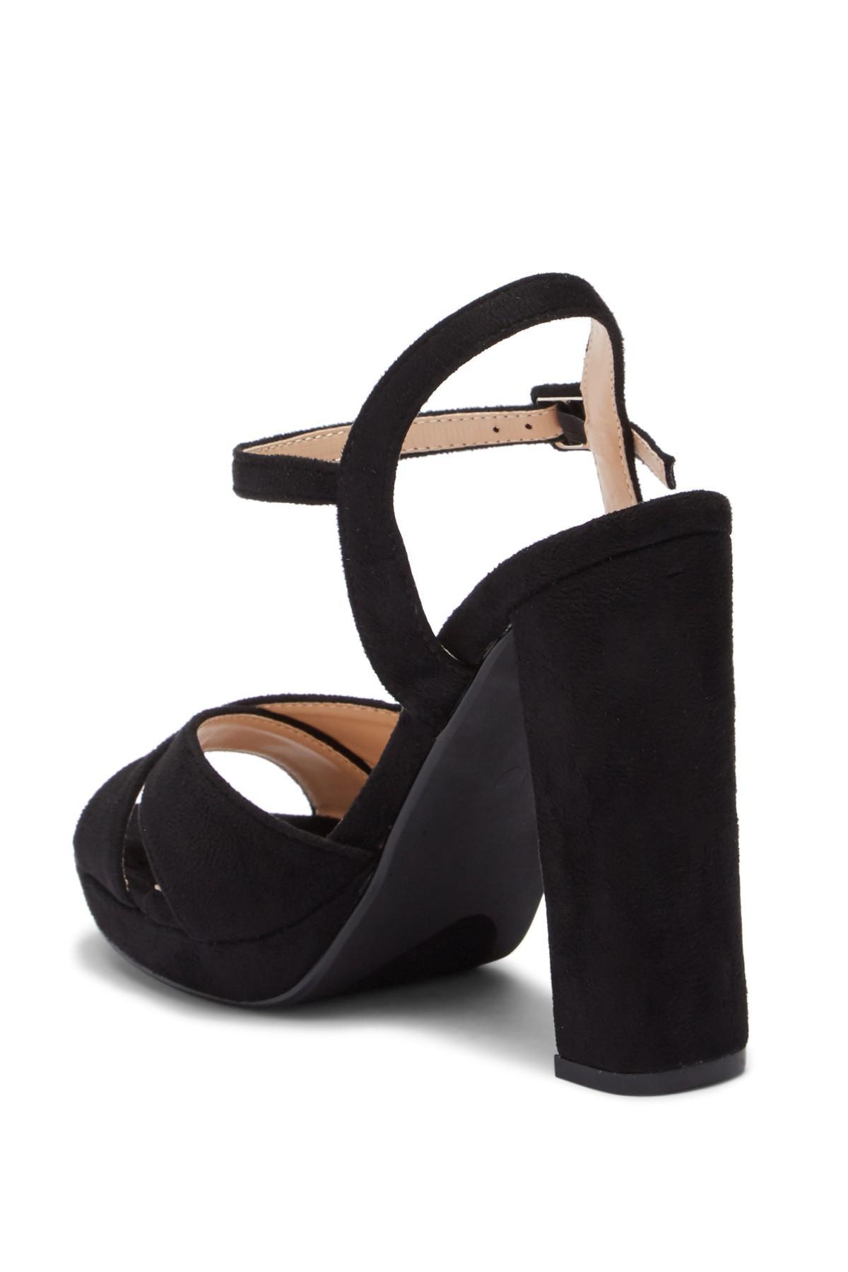 Elegant Footwear Dollie Platform Ankle Strap Sandal