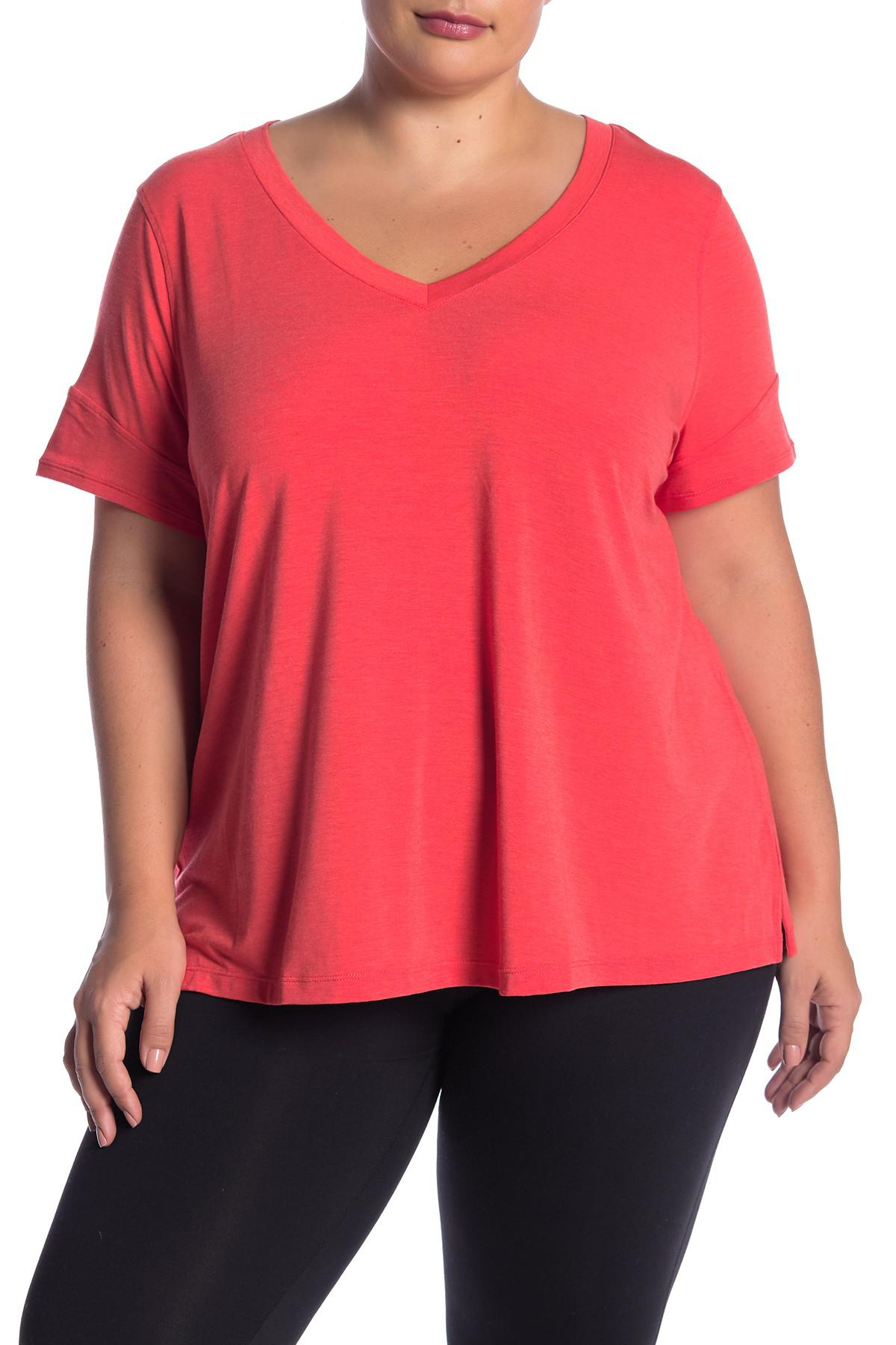 242b3311c87 Lyst - Zella Ava V-neck Tee (plus Size) in Red
