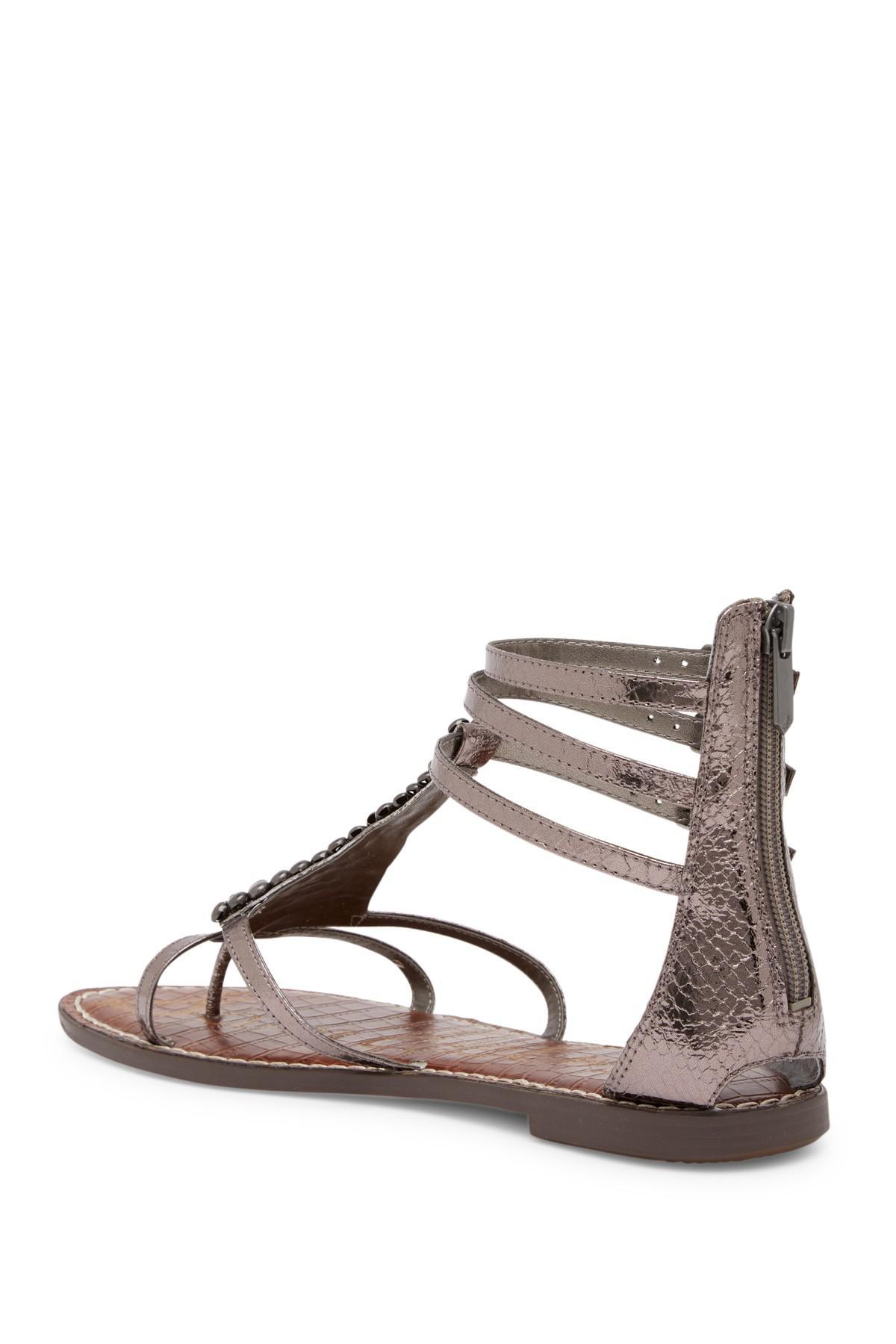 a98a948970fc1 Lyst - Sam Edelman Ginger Beaded Gladiator Sandal
