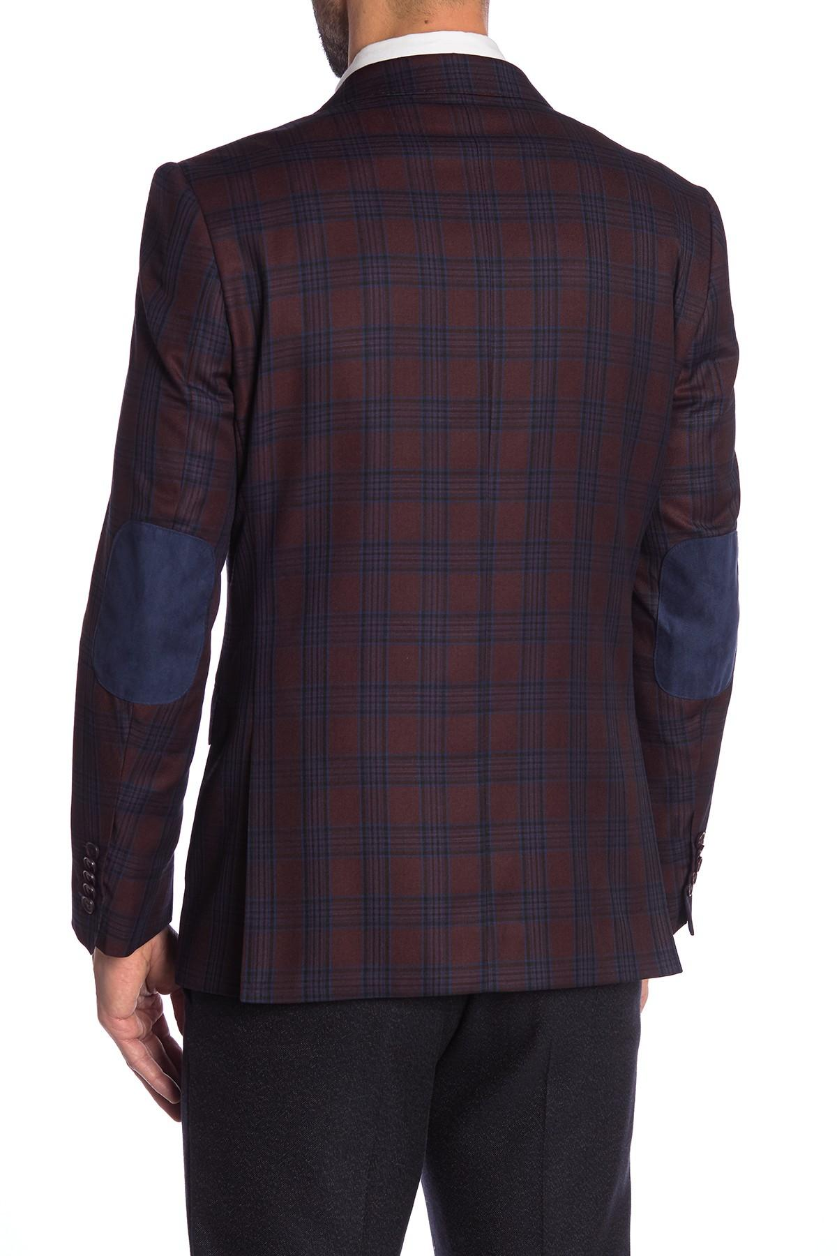 Lyst English Laundry Burgundy Blue Plaid Two Button