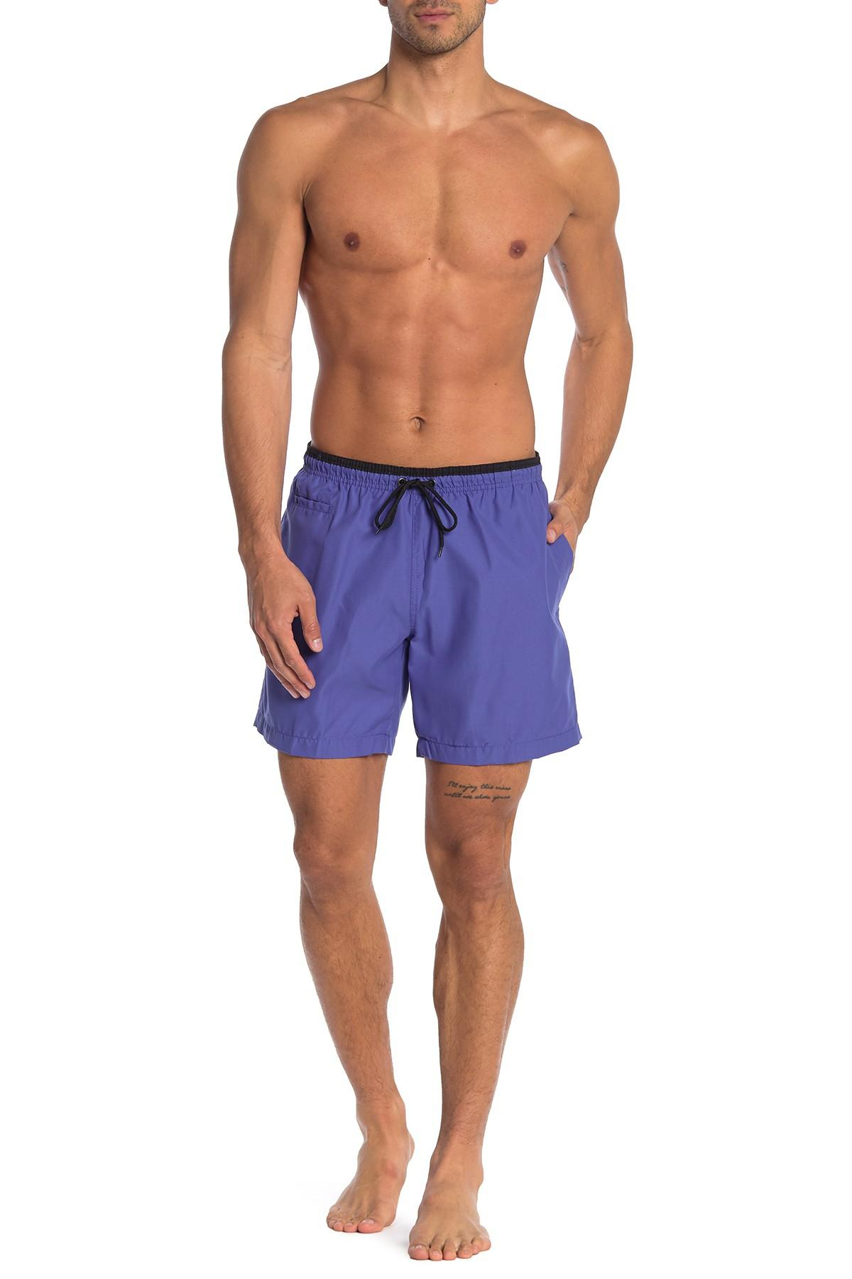 fff831eddd Lyst - TRUNKS SURF AND SWIM CO Contrast Sano Swim Shorts in Blue for Men