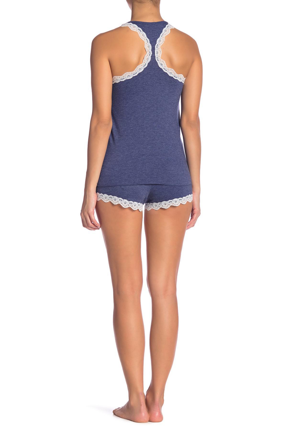 0e068f2618 Lyst - Honeydew Intimates All American Short Pajama Set in Blue