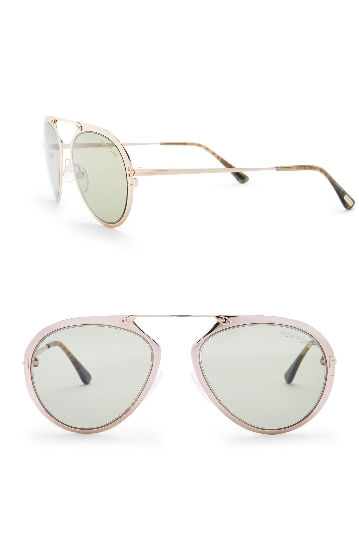 c150fb6ec4 Tom Ford Dashel 53mm Modified Aviator Sunglasses in Metallic - Lyst