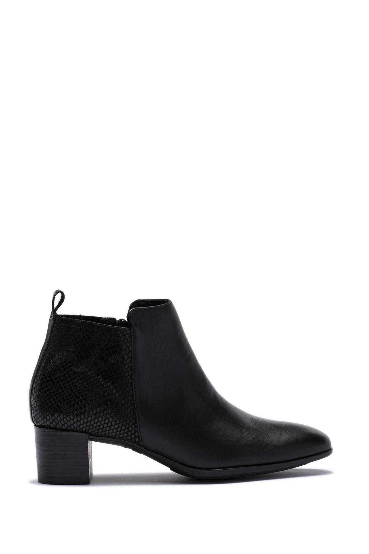 67fbbd21662 Lyst - Munro Alix Leather Bootie - Multiple Widths Available in Black