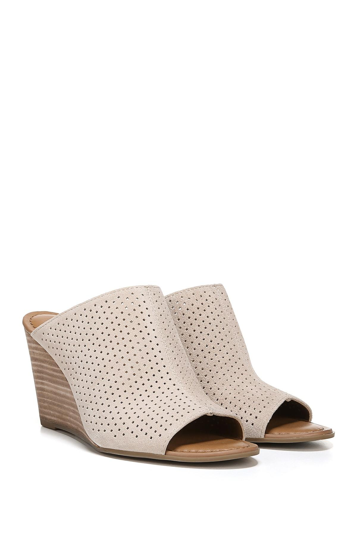 809611a90cfc Franco Sarto - Multicolor Yvette Stacked Wedge Sandal - Lyst. View  fullscreen