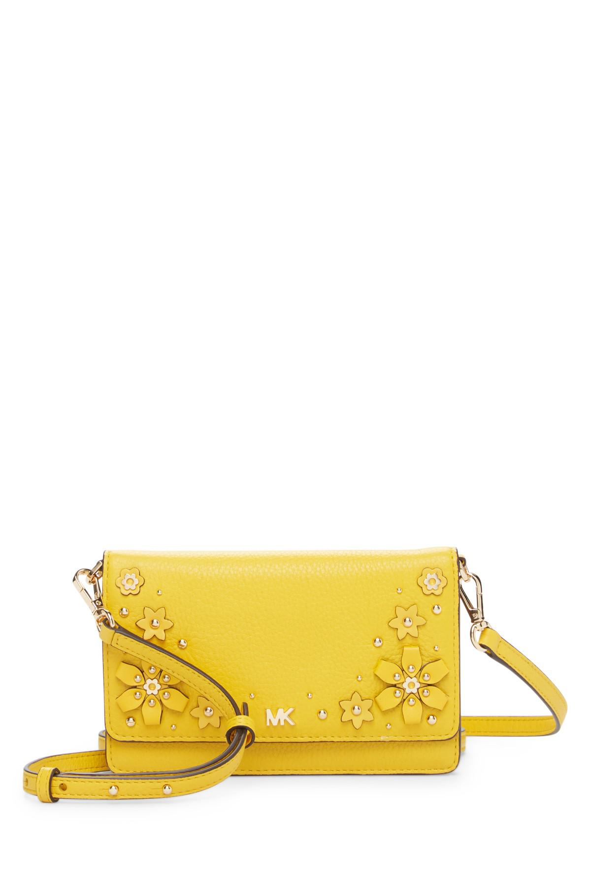d199e4469e11 MICHAEL Michael Kors Floral Embellished Leather Phone Crossbody Bag ...