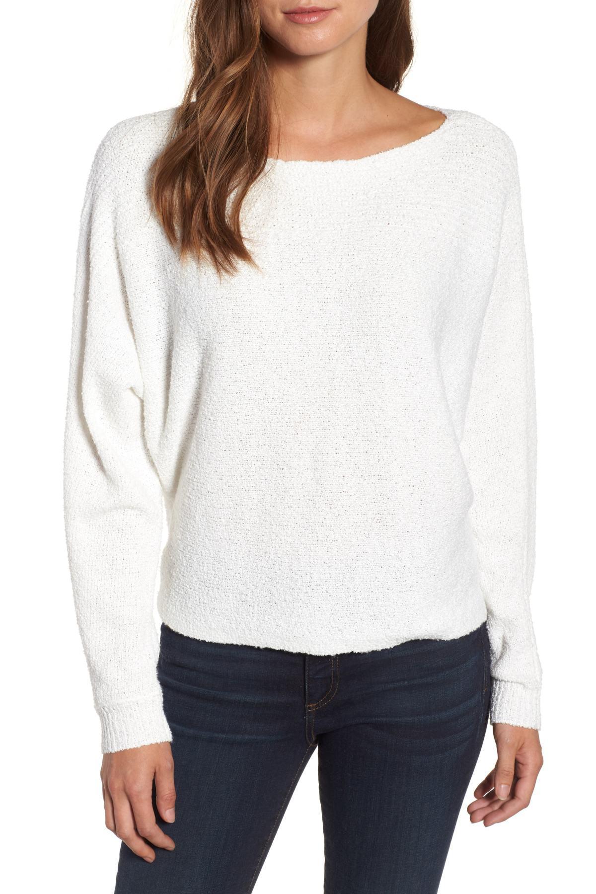 a7b87cedde8 Lyst - Caslon Calson(r) Dolman Sleeve Sweater (regular   Petite) in ...