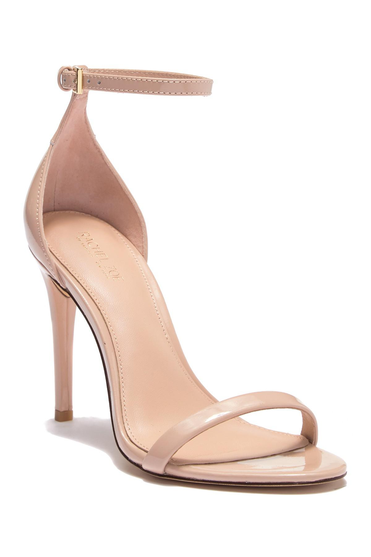 36eb8b375d0 Lyst - Rachel Zoe Ema Patent Leather Stiletto Sandal in Natural