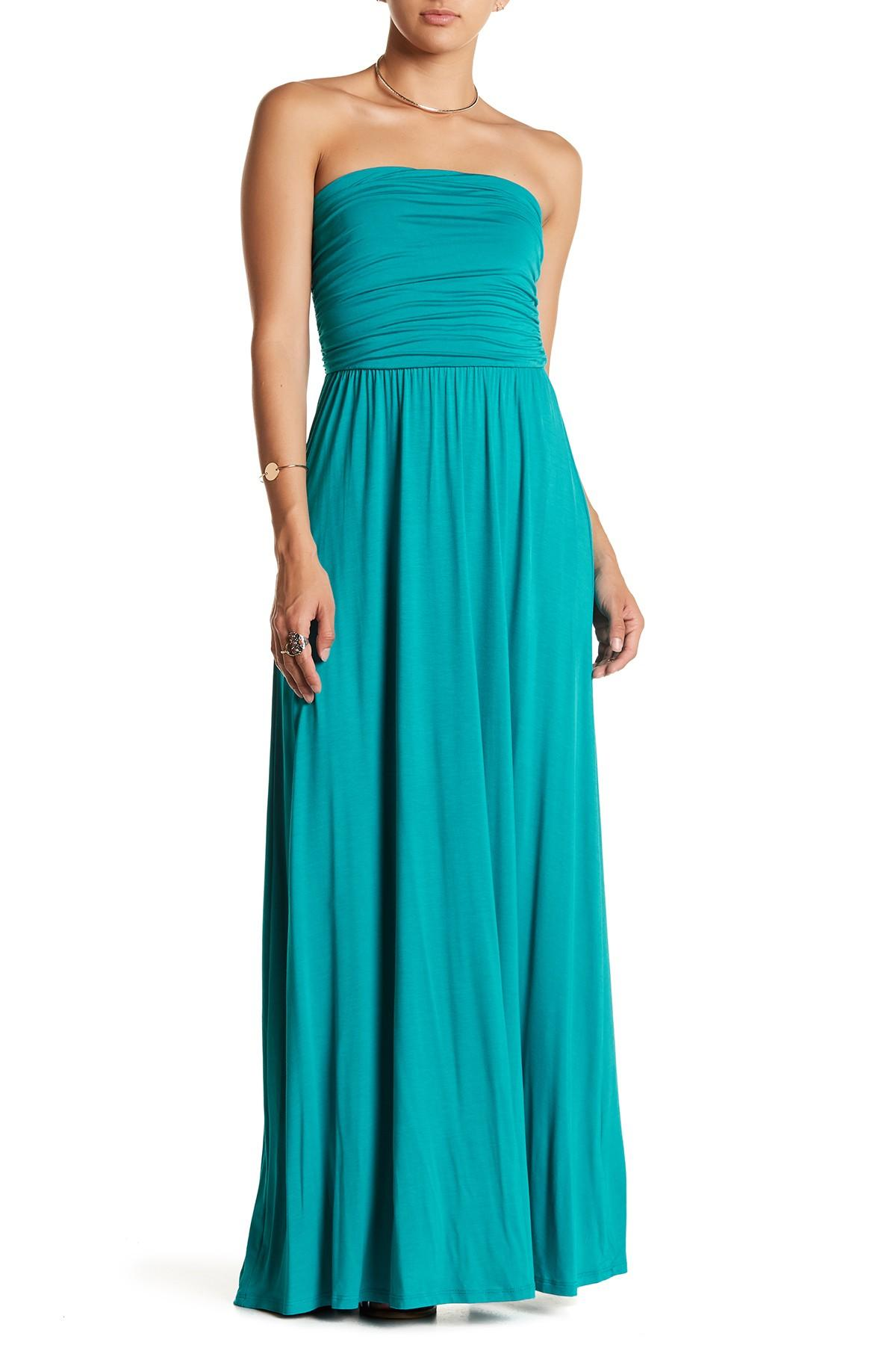b08d1bd1bfe West Kei Strapless Maxi Dress in Blue - Lyst