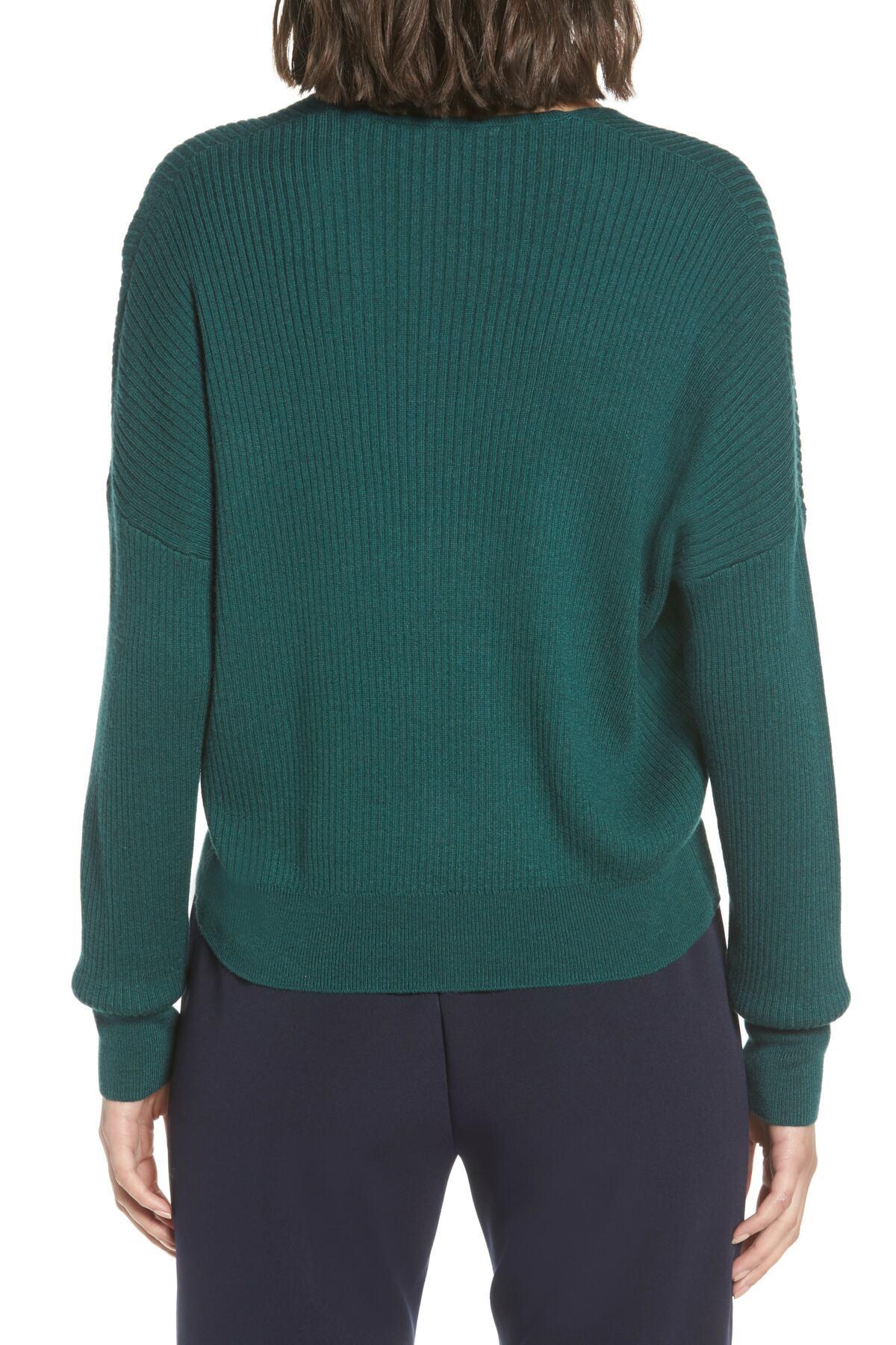 bbdeeaeb3 Lyst - Leith Rib Wrap Sweater (regular   Plus Size) in Green
