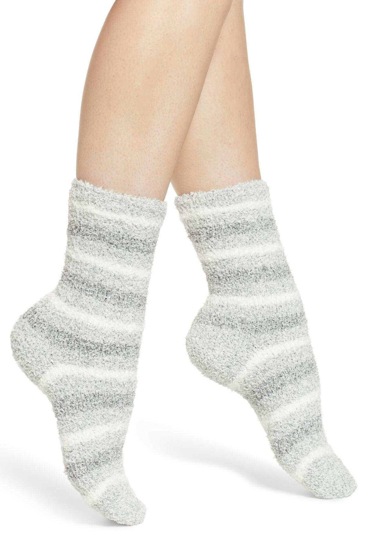 14b357e51d2 Lyst - Nordstrom Butter Pattern Crew Socks in Gray