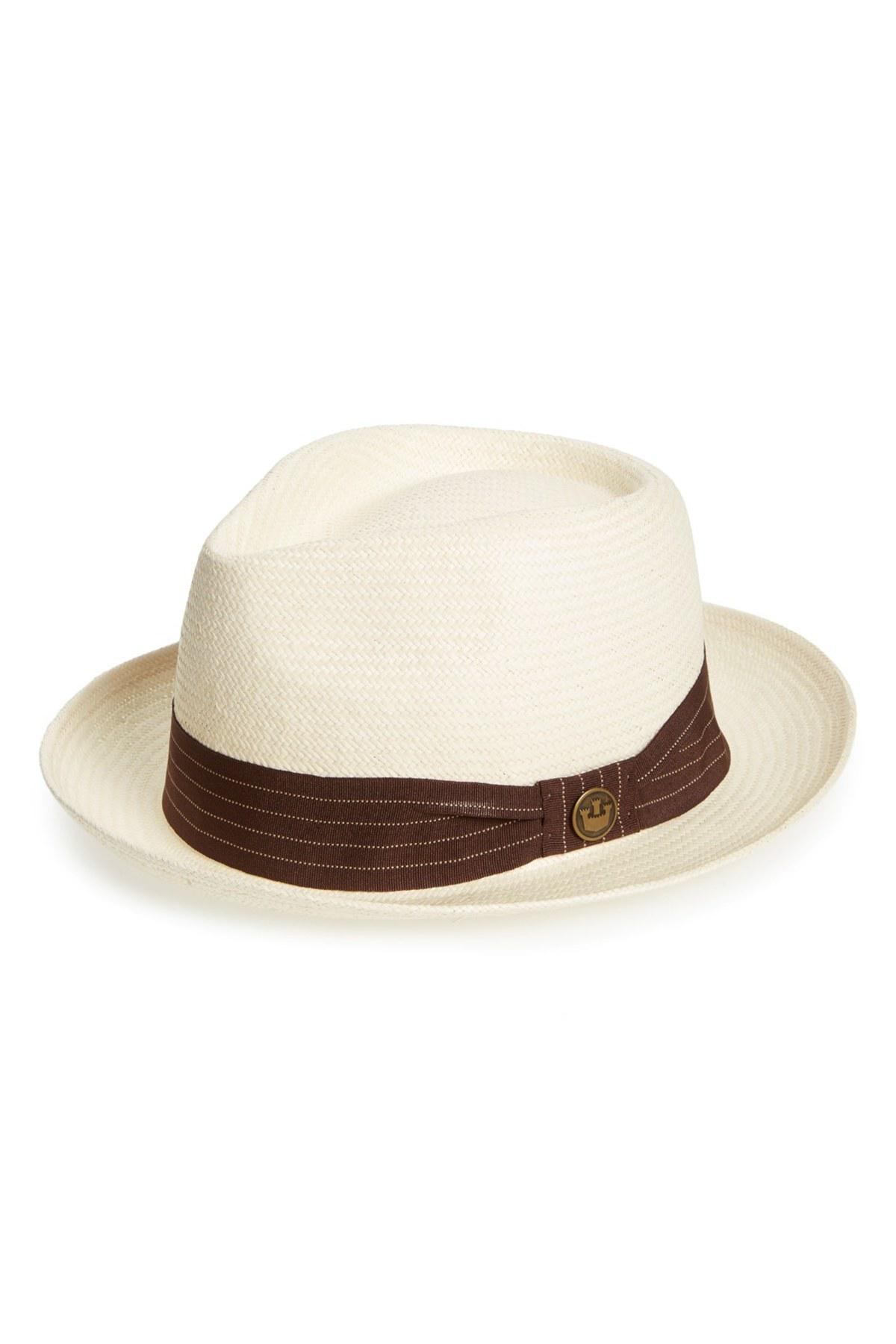 Lyst - Goorin Bros Snare Straw Fedora in White for Men f8a99f405121