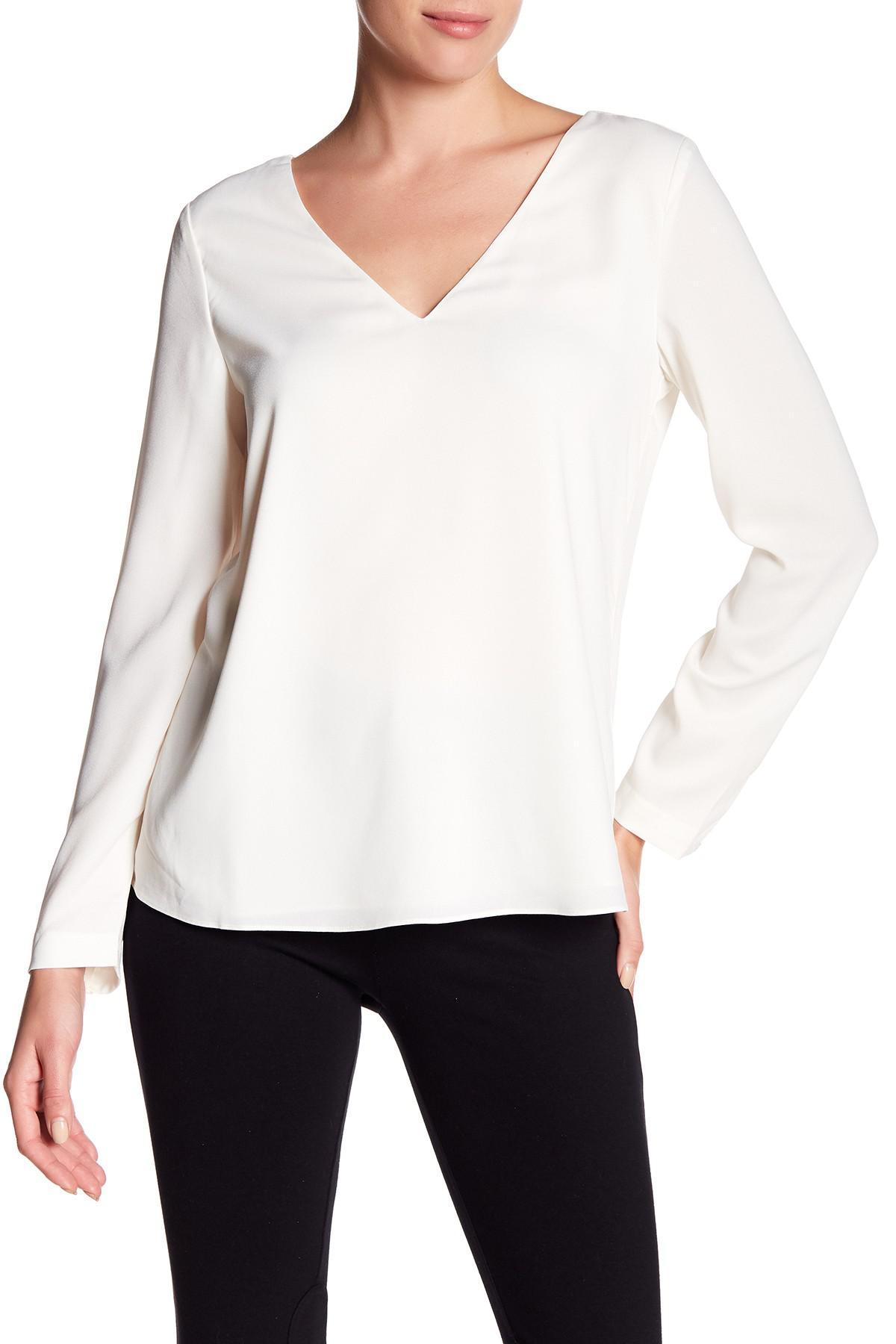 6a1a7c0e5e13b Lyst - Cooper   Ella Freja Lace Long Sleeve Top in White