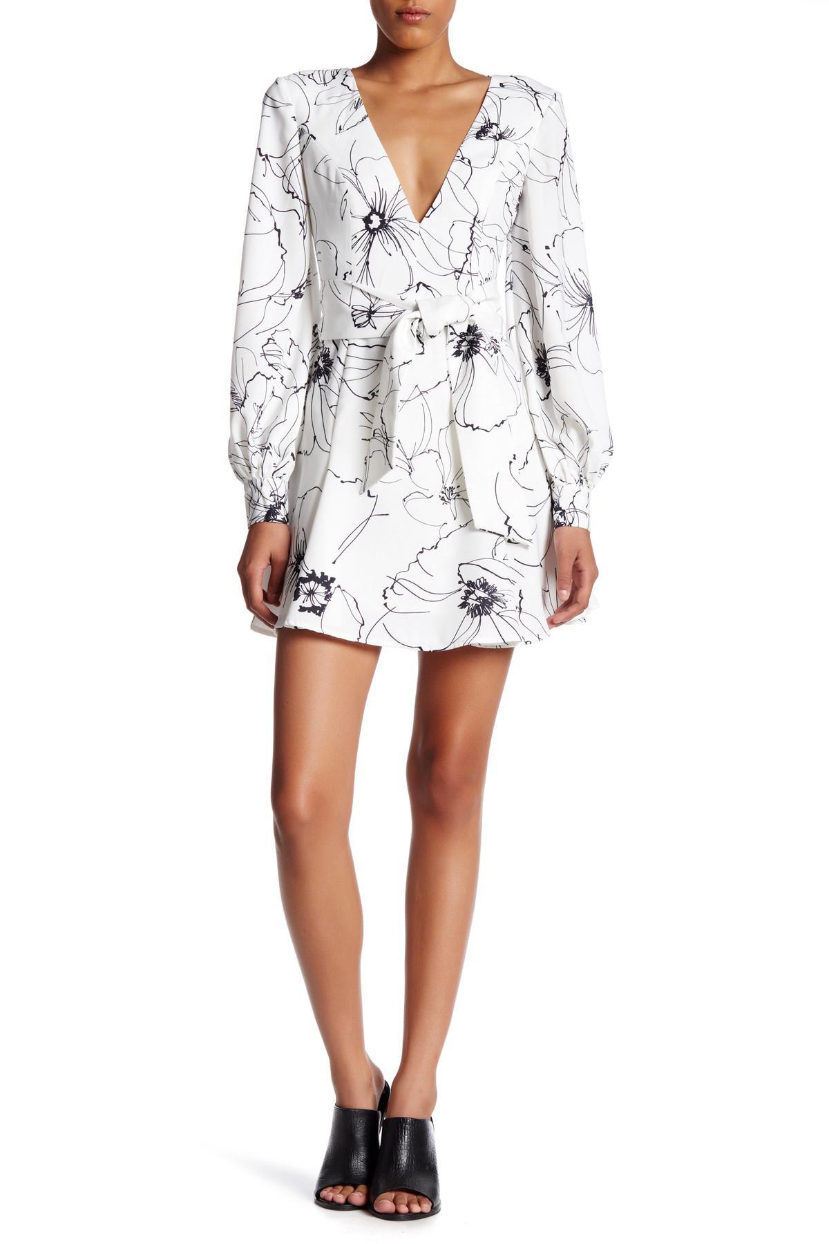 Lyst - Keepsake Heat Wave Long Sleeve Mini Dress in White 52cc36e20