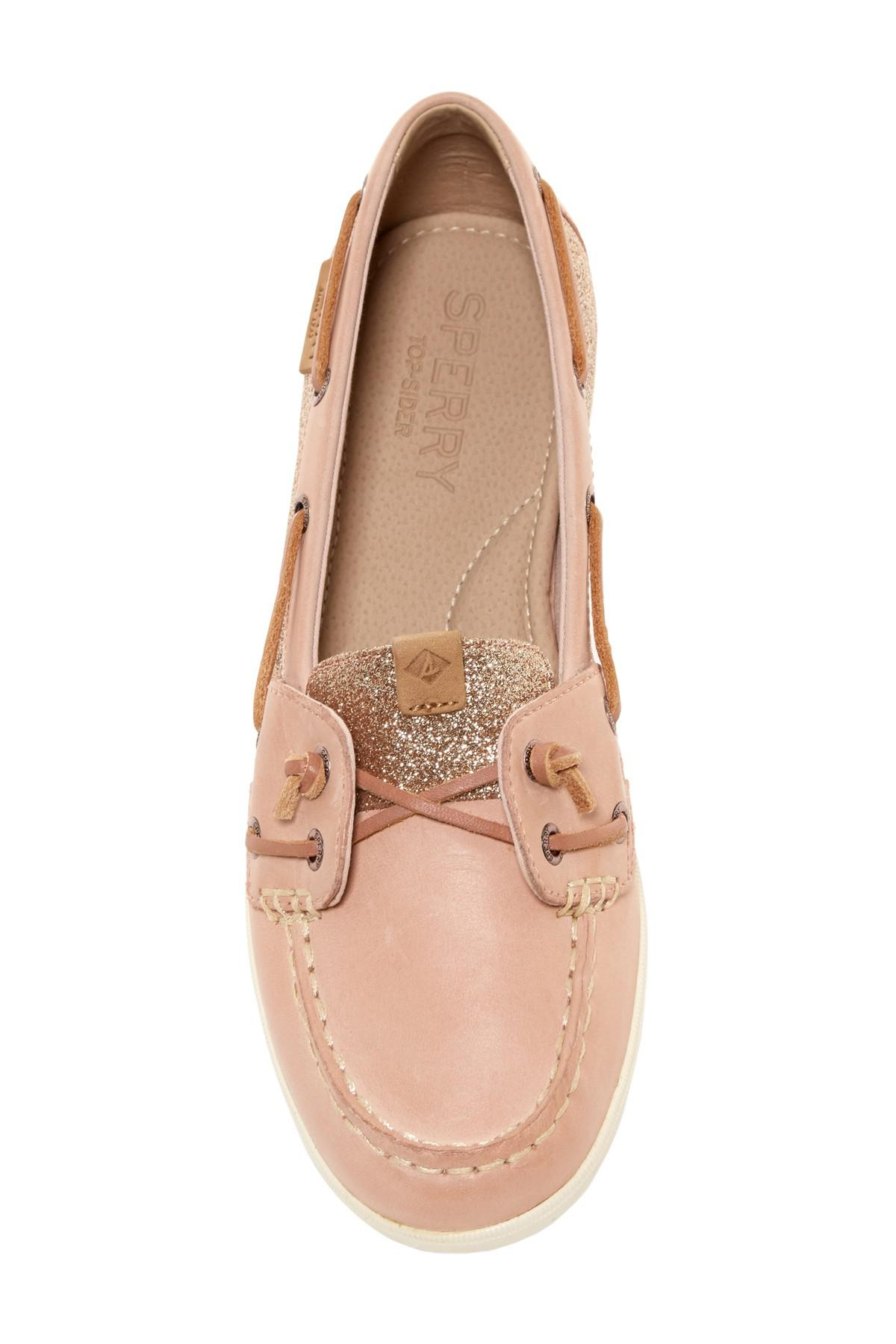 073c91534d74 Sperry Top-Sider Coil Ivy Glitter Boat Shoe in Pink - Lyst