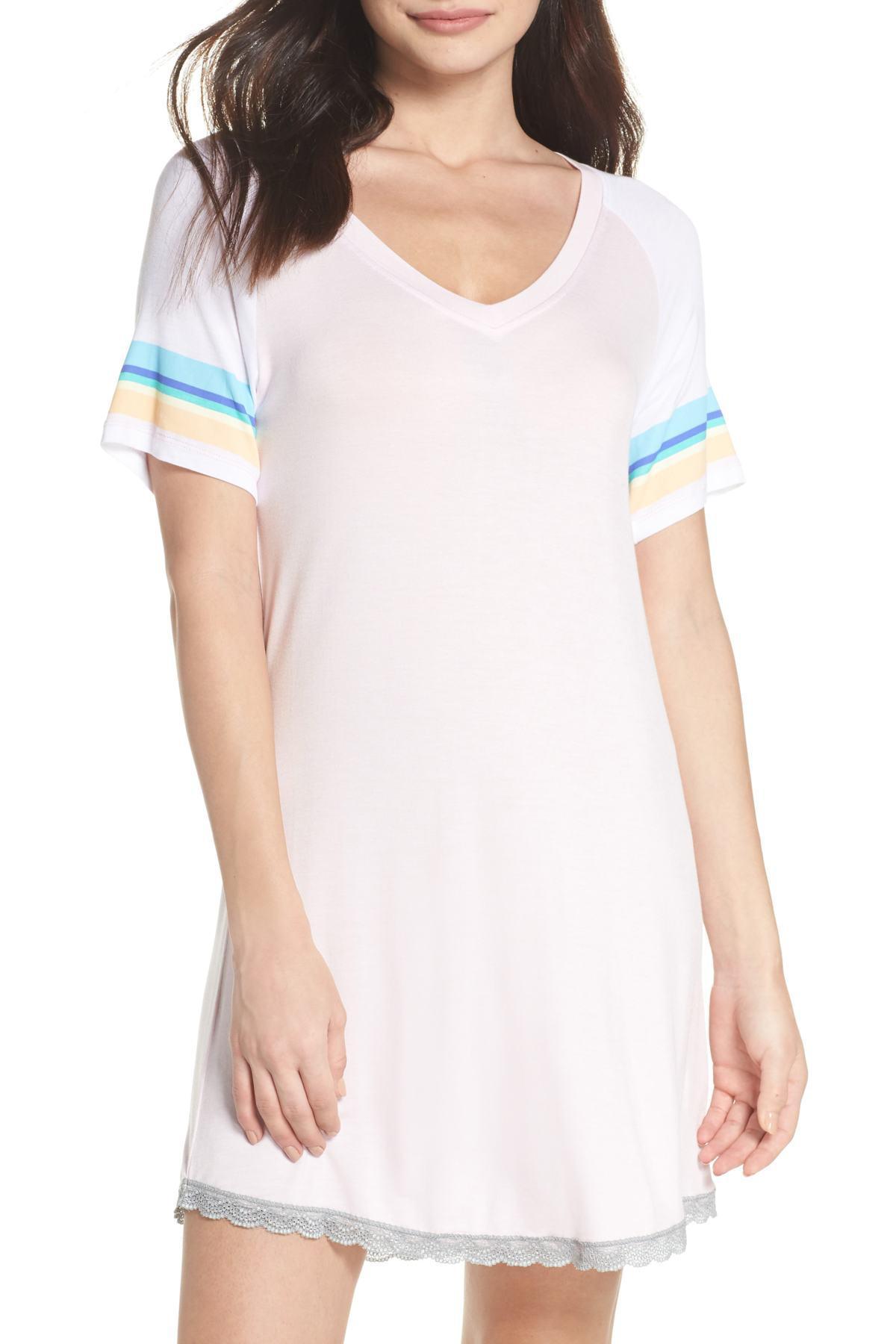 28789aa857 Lyst - Honeydew Intimates Honeydew Lace Trim Sleep Shirt (2 For  60 ...