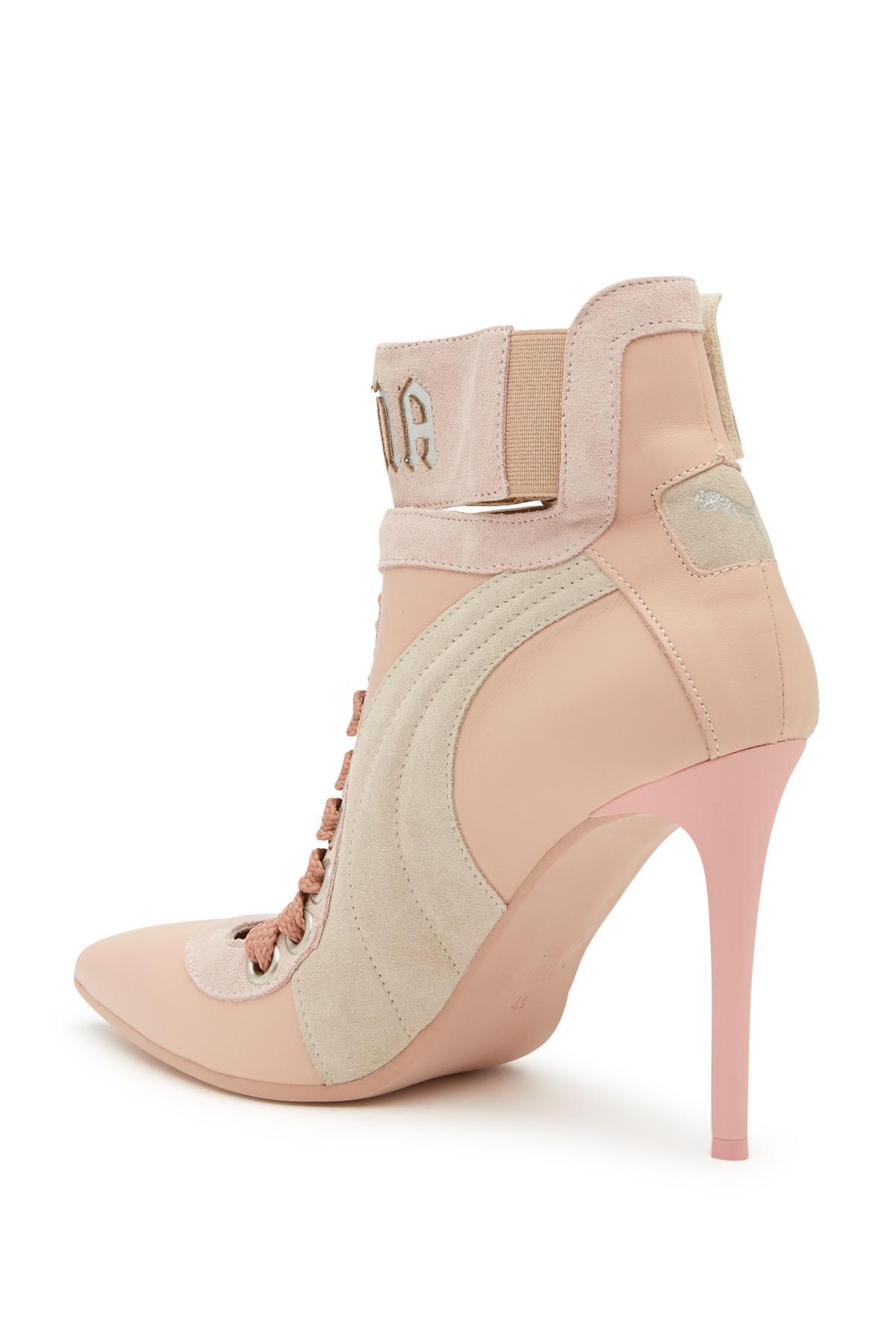 ef5bcee4e66e06 PUMA Puma By Rihanna Lace-up Pump in Pink - Lyst