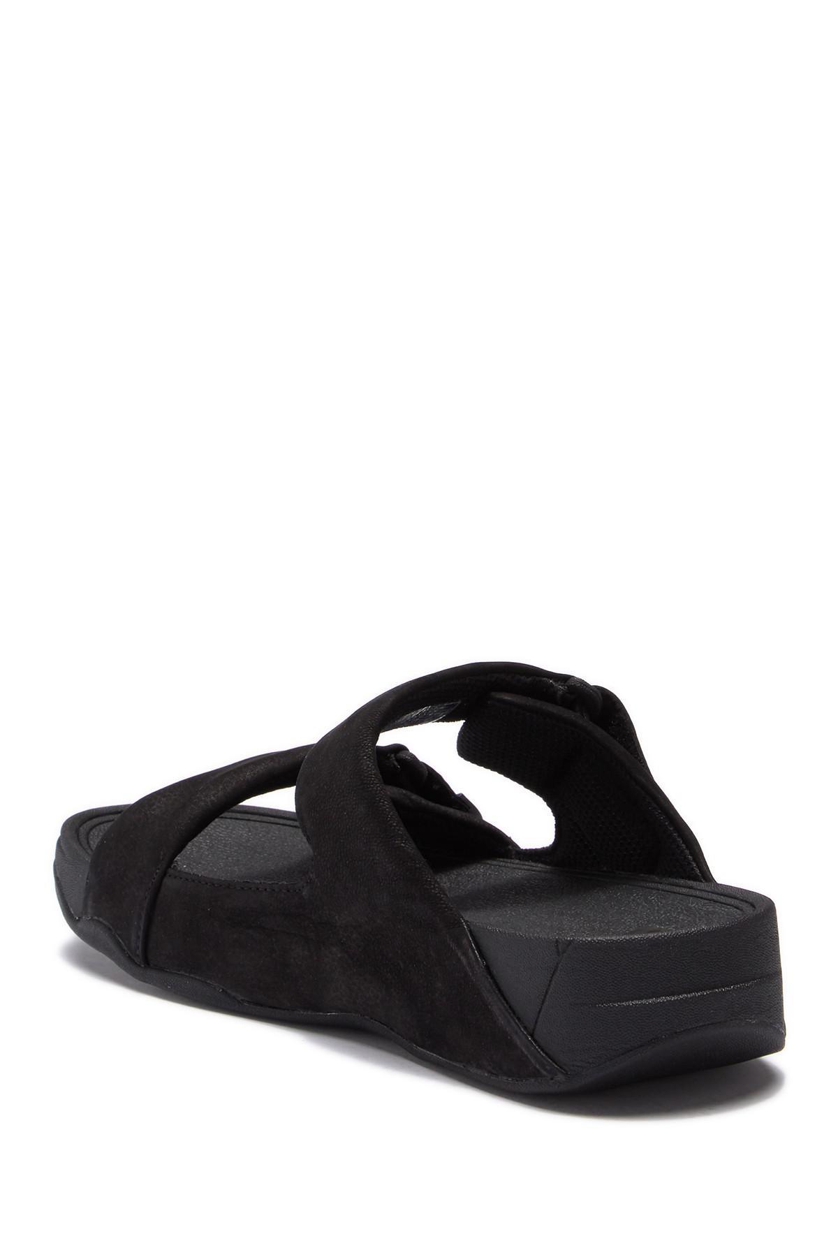 ffb6a2d25773 Fitflop - Black Gogh Moc Adjustable  s Slide Sandals for Men - Lyst. View  fullscreen