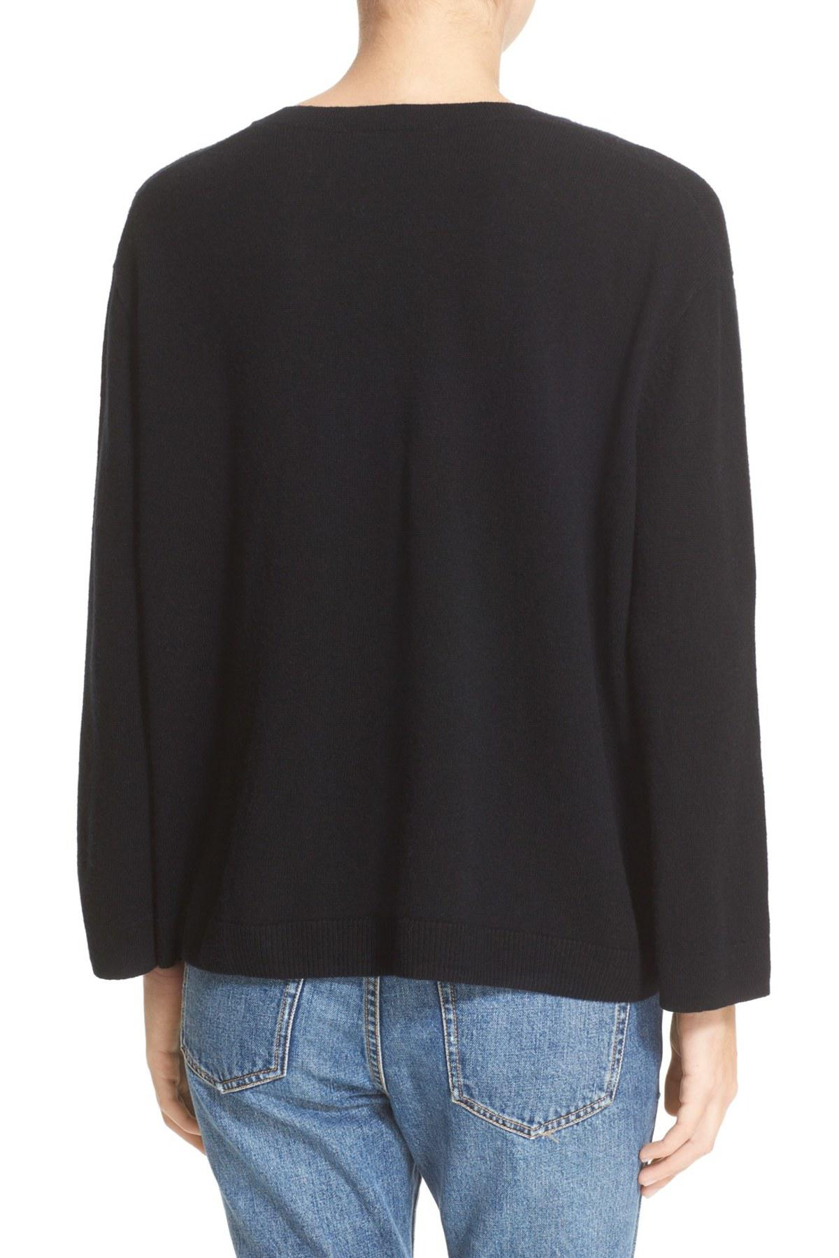6d72feaacd Lyst - The Kooples Lace-up Wool   Cashmere Sweater in Black