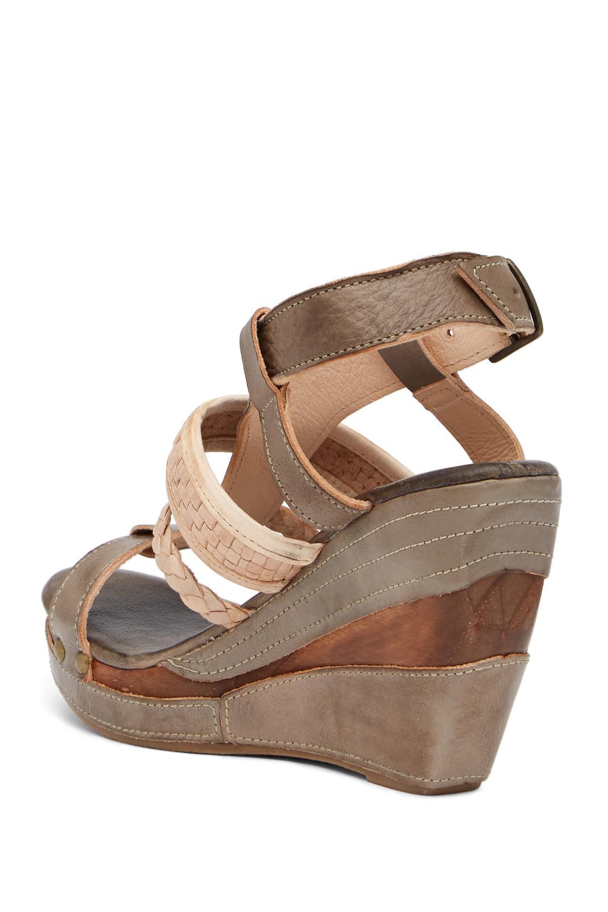 a654fd7c298 Lyst - Bed Stu Jaslyn Wedge Sandal in Brown