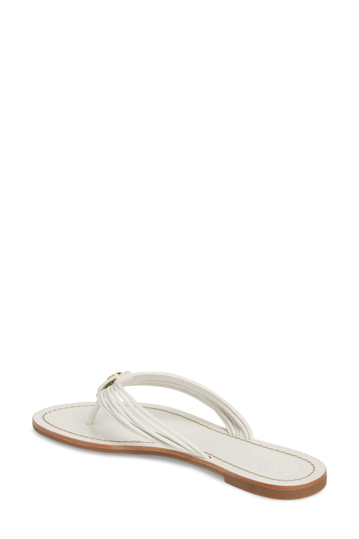 251b9bed460f Lyst - Tory Burch Sienna Strappy Thong Sandal (women) in White