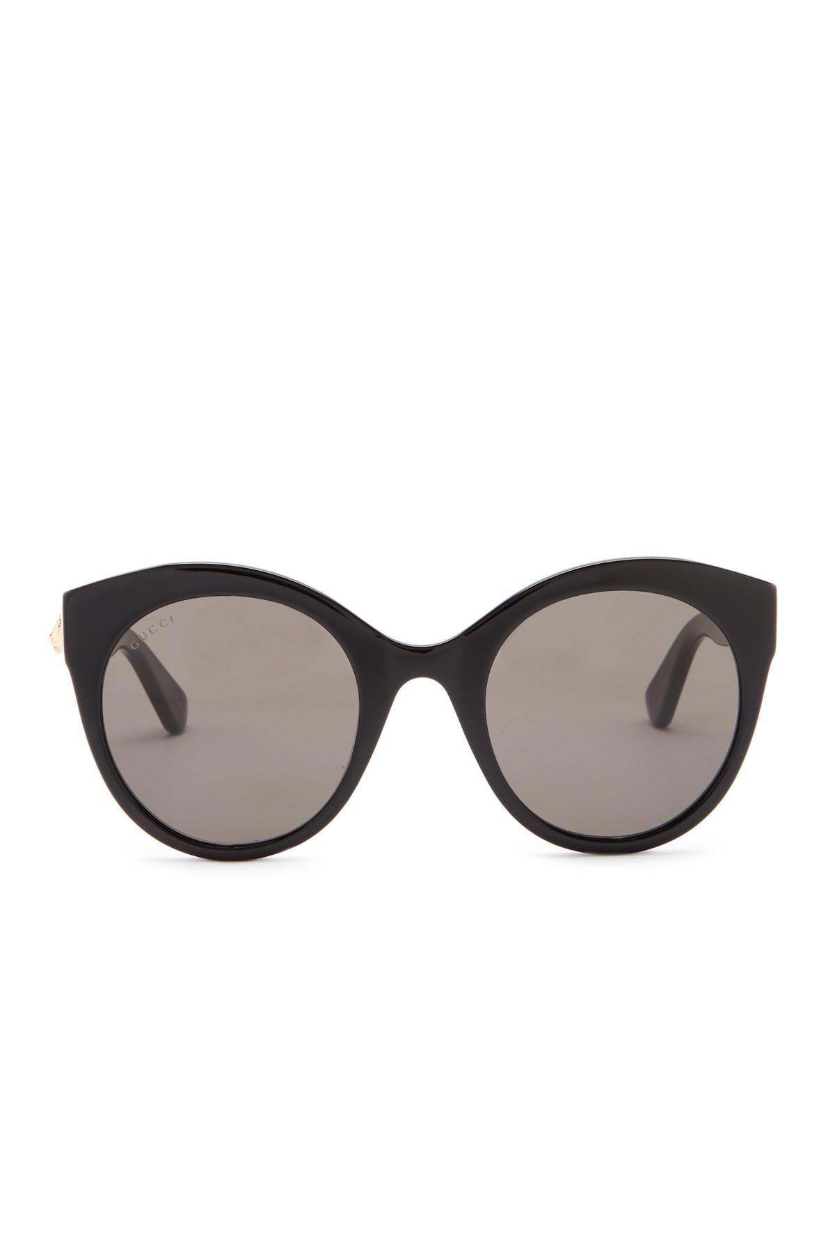 b06acf339faa Gucci Black 52mm Round Cat Eye Sunglasses. View fullscreen